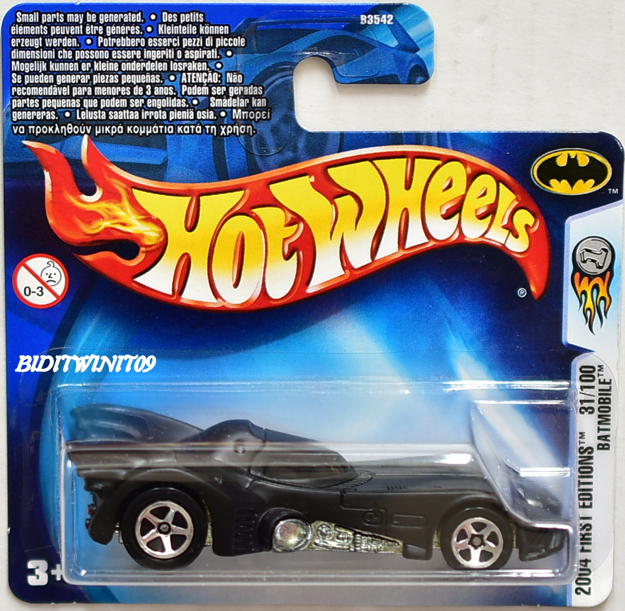 Wonderlijk HOT WHEELS 2004 FIRST EDITIONS #31/100 BATMOBILE SHORT CARD HJ-59
