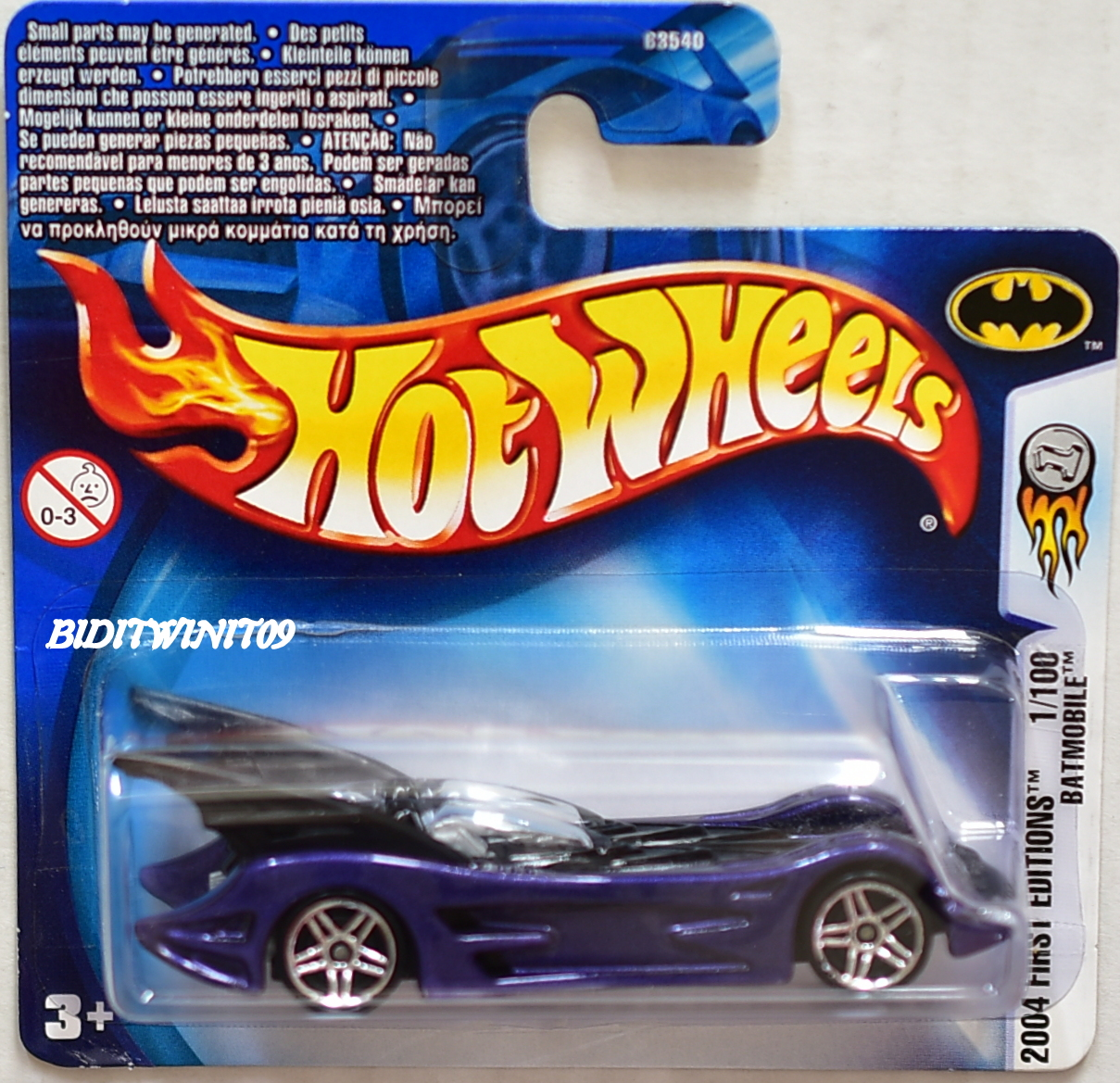 HOT WHEELS 2004 FIRST EDITIONS #1/100 BATMOBILE SHORT CARD E+