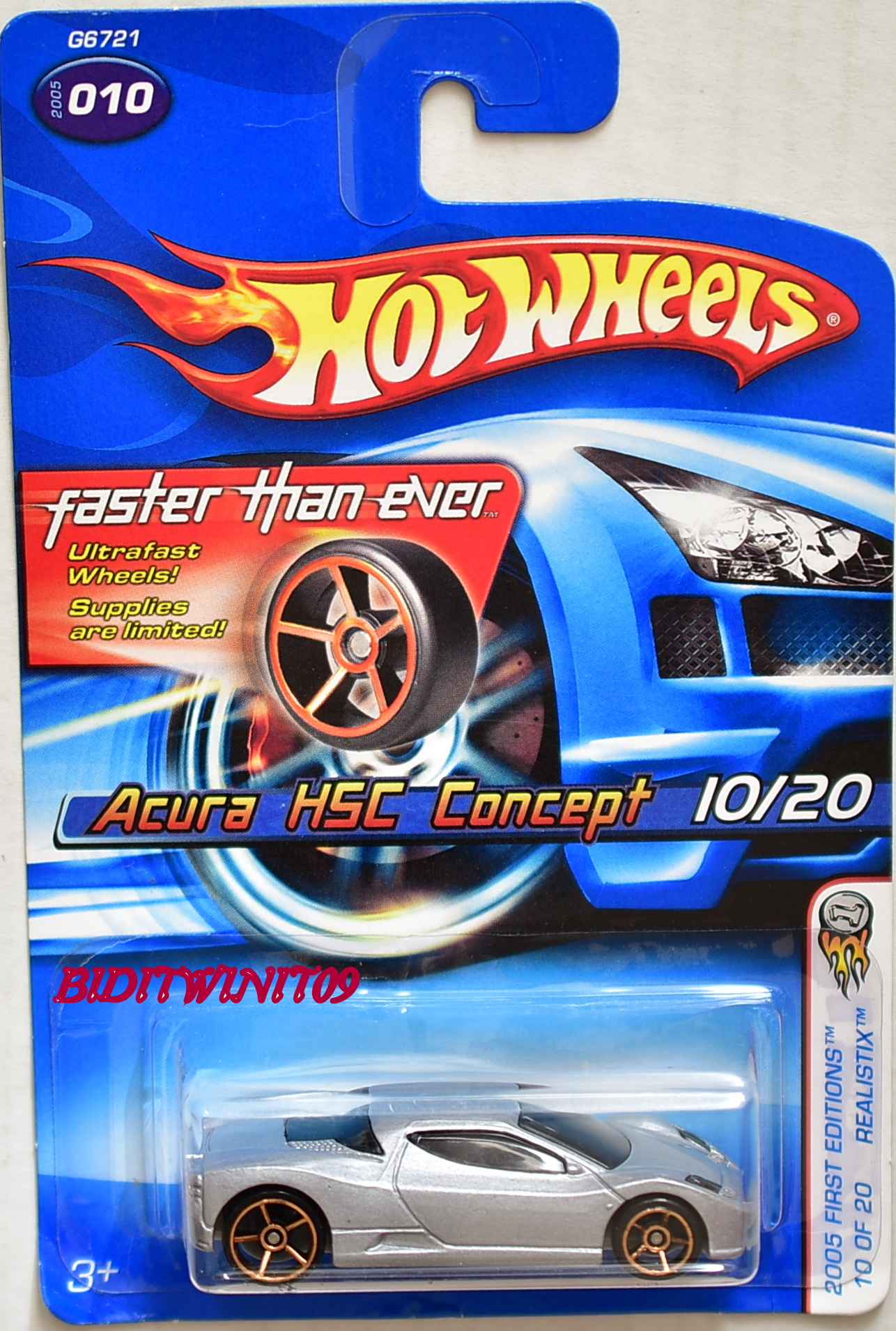 HOT WHEELS 2005 FIRST EDITIONS ACURA HSC CONCEPT FTE #010 SILVER