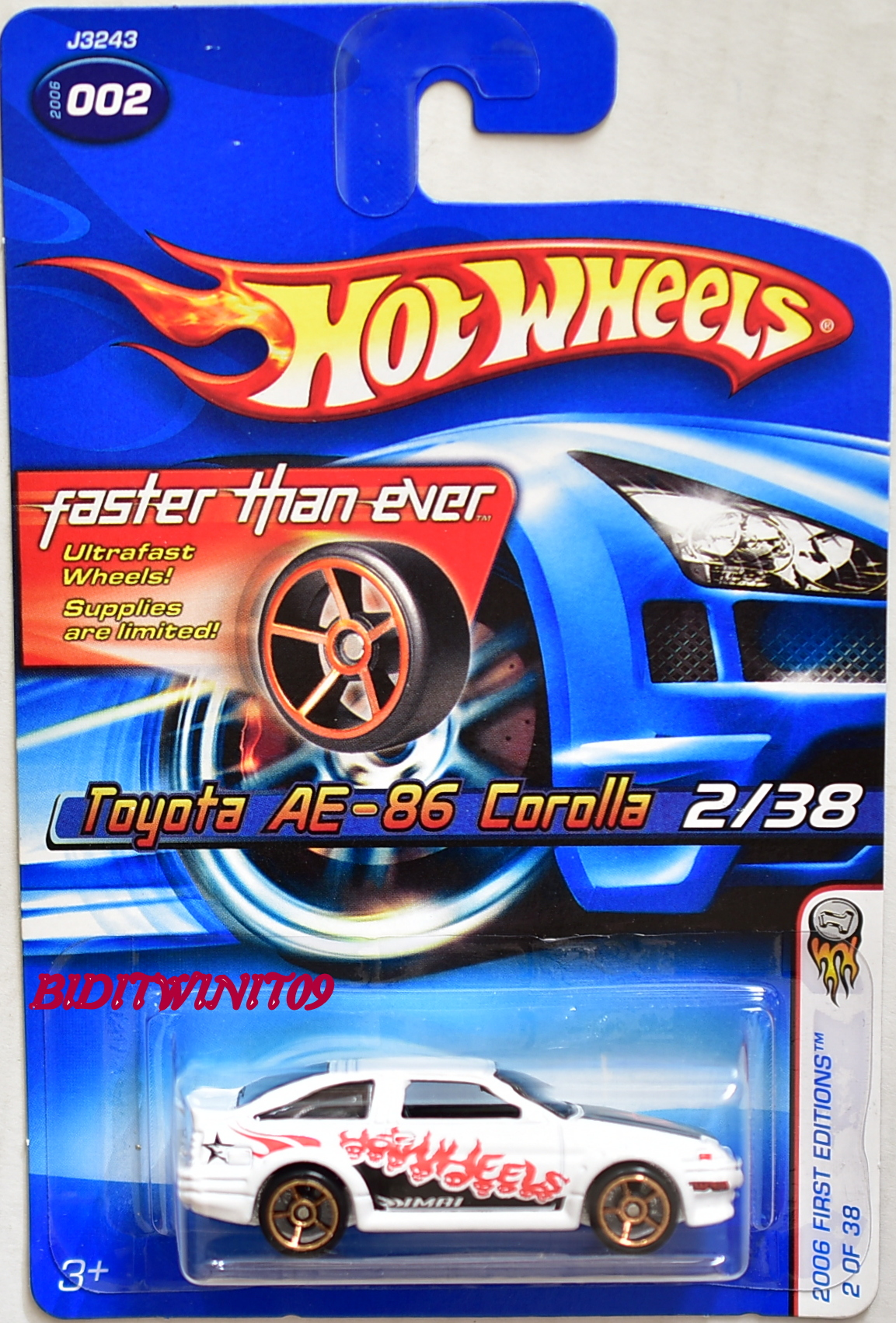 HOT WHEELS 2006 FTE FIRST EDITIONS TOYOTA AE-86 COROLLA