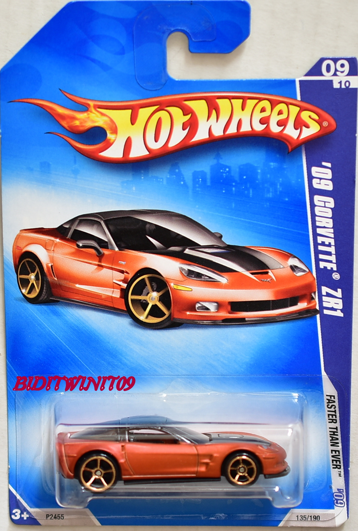 HOT WHEELS 2009 FASTER THAN EVER '09 CORVETTE ZR1 #09/10 BRONZE
