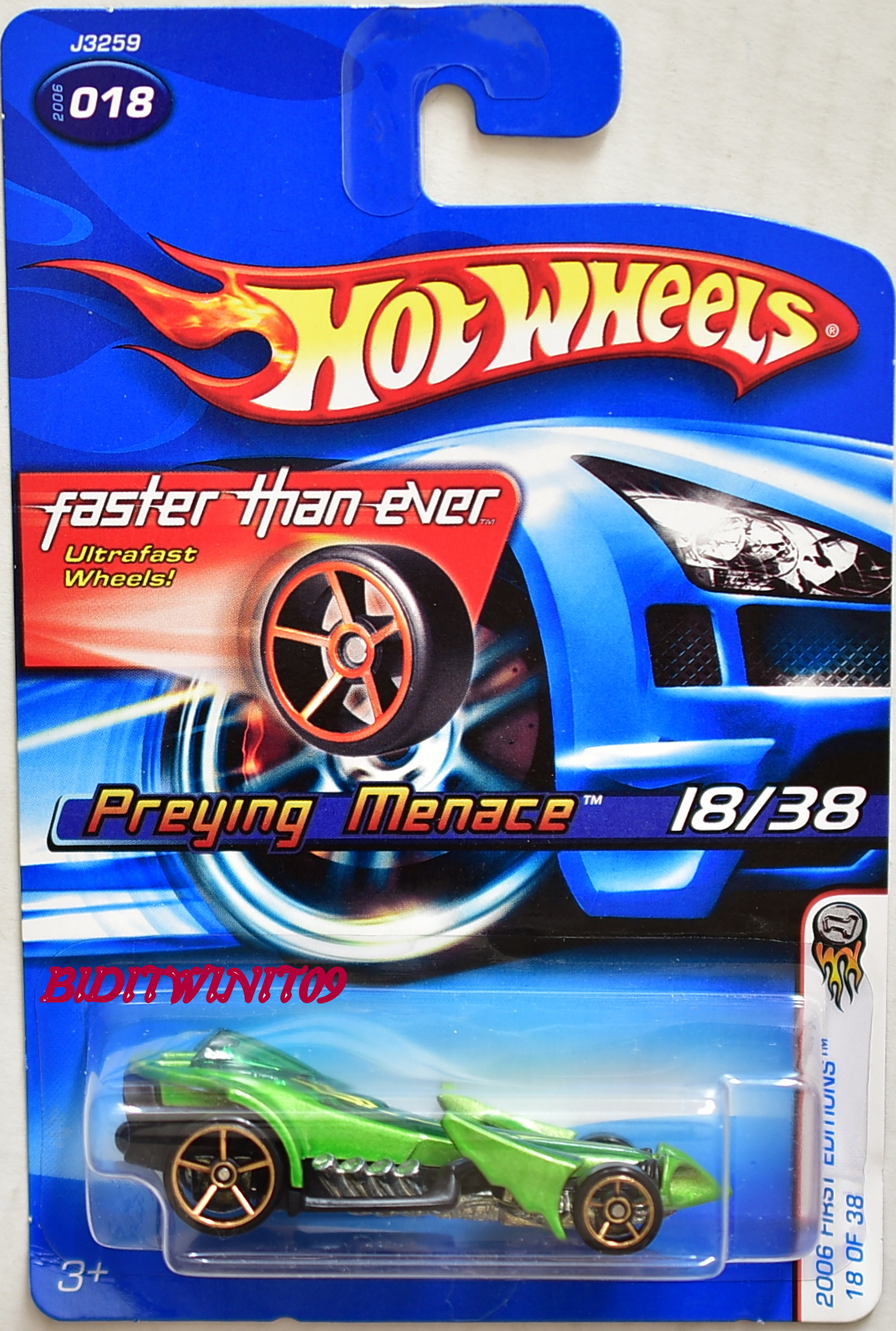 HOT WHEELS 2006 FIRST EDITIONS FTE PREYING MENACE #018