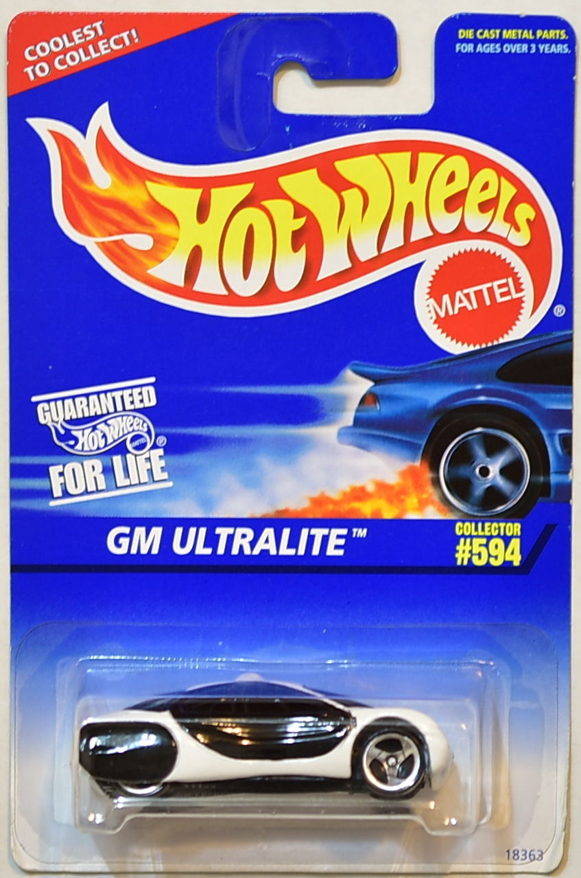 HOT WHEELS 1996 GM ULTRALITE NO TAMPO 3 SP WHEELS