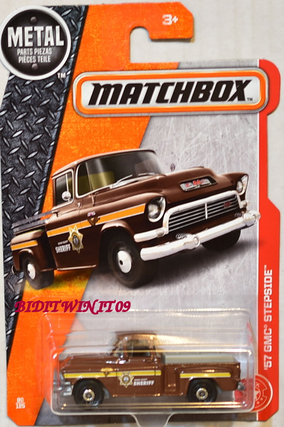 MATCHBOX 2017 METAL PARTS PIEZAS '57 GMC STEPSIDE E+