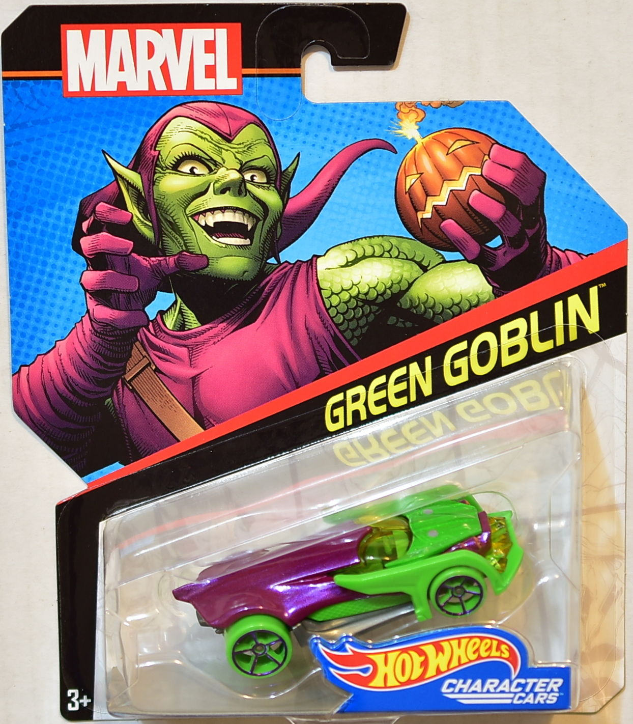 HOT WHEELS MARVEL CHARACTER CARS GREEN GOBLIN