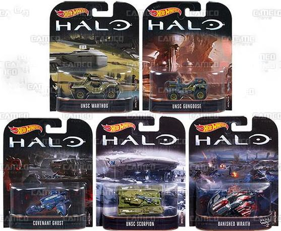 HOT WHEELS 2017 RETRO ENTERTAINMENT SET OF 5 HALO IN HAND