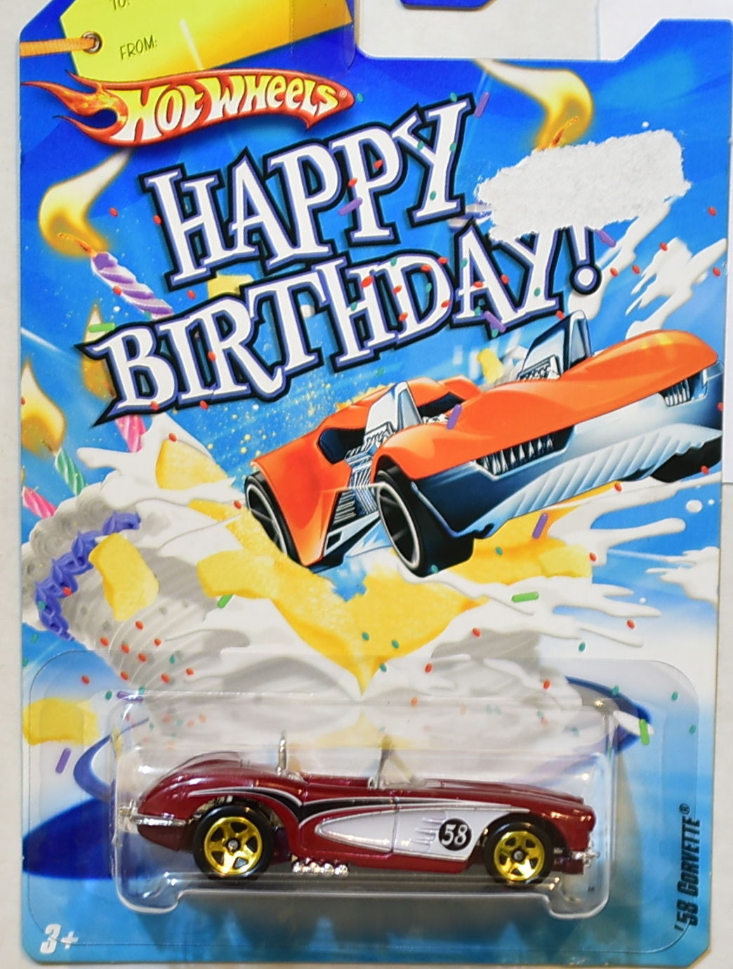 HOT WHEELS HAPPY BIRTHDAY 2008 '58 CORVETTE RED