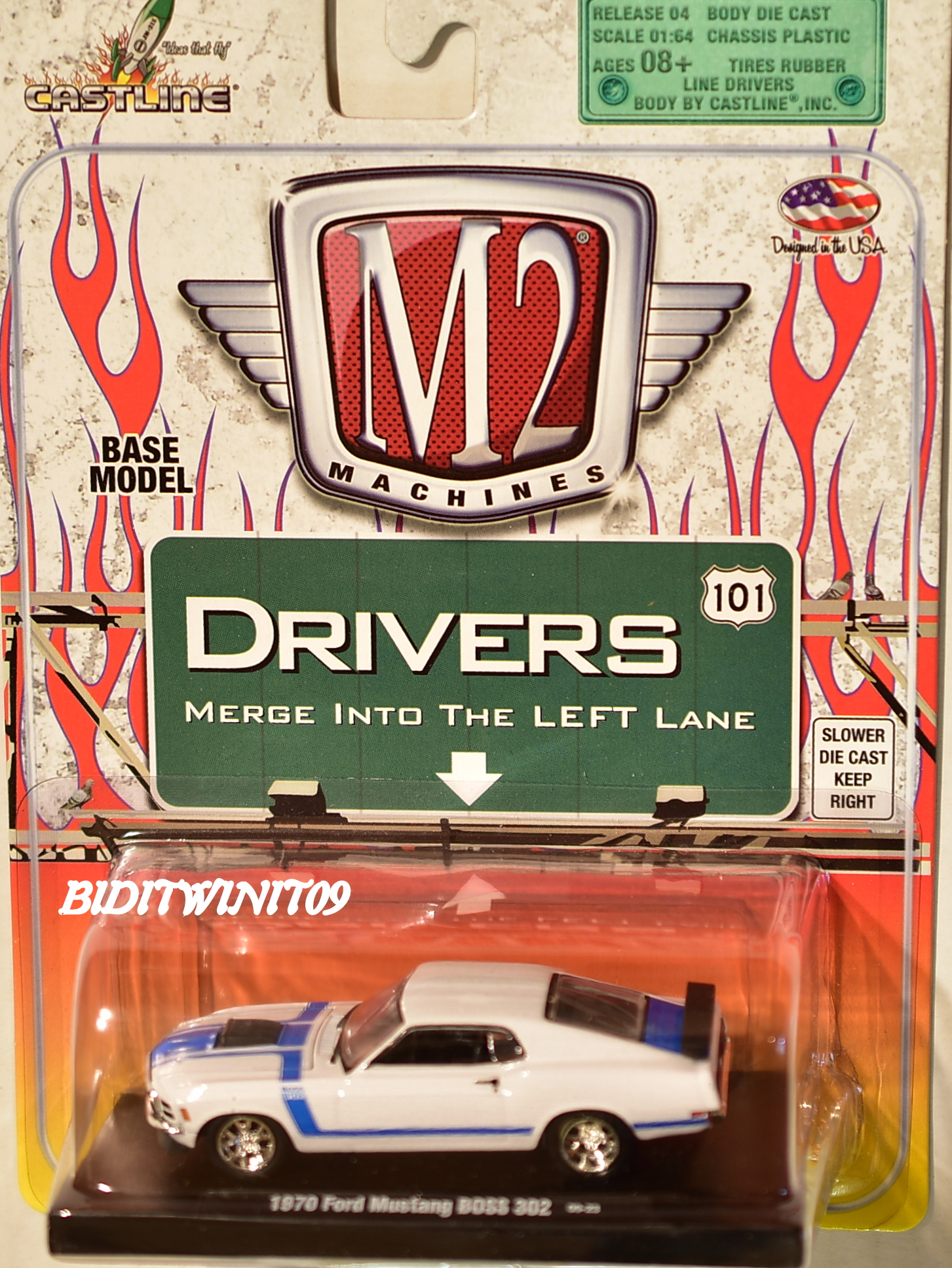 M2 MACHINES AUTO-DRIVERS 1970 FORD MUSTANG BOSS 302 09-23 E+