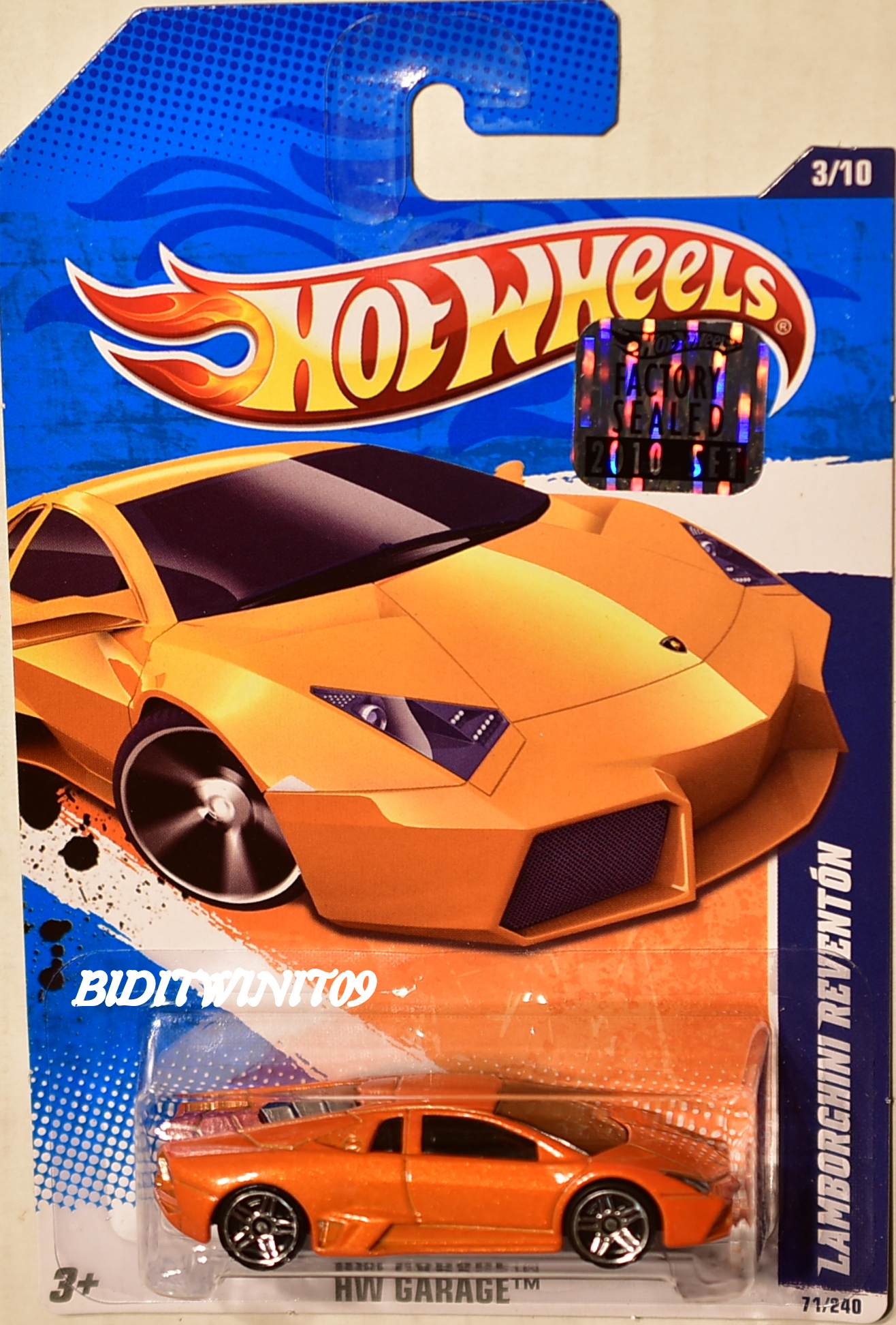 HOT WHEELS 2010 HW GARAGE LAMBORGHINI REVENTON #3/10 ORANGE FACTORY SEALED