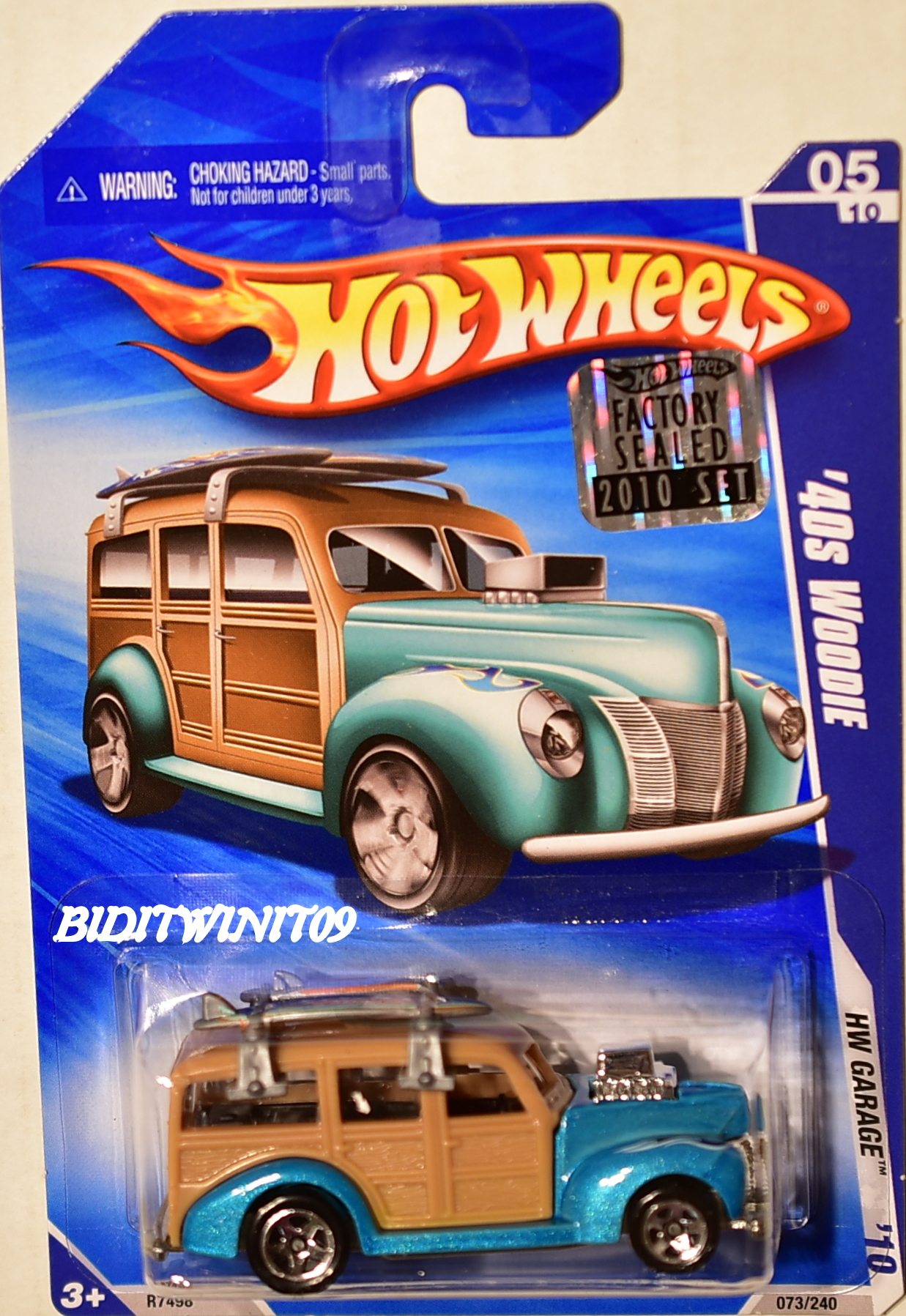 HOT WHEELS 2010 HW GARAGE '40S WOODIE FACTORY SEALED E+