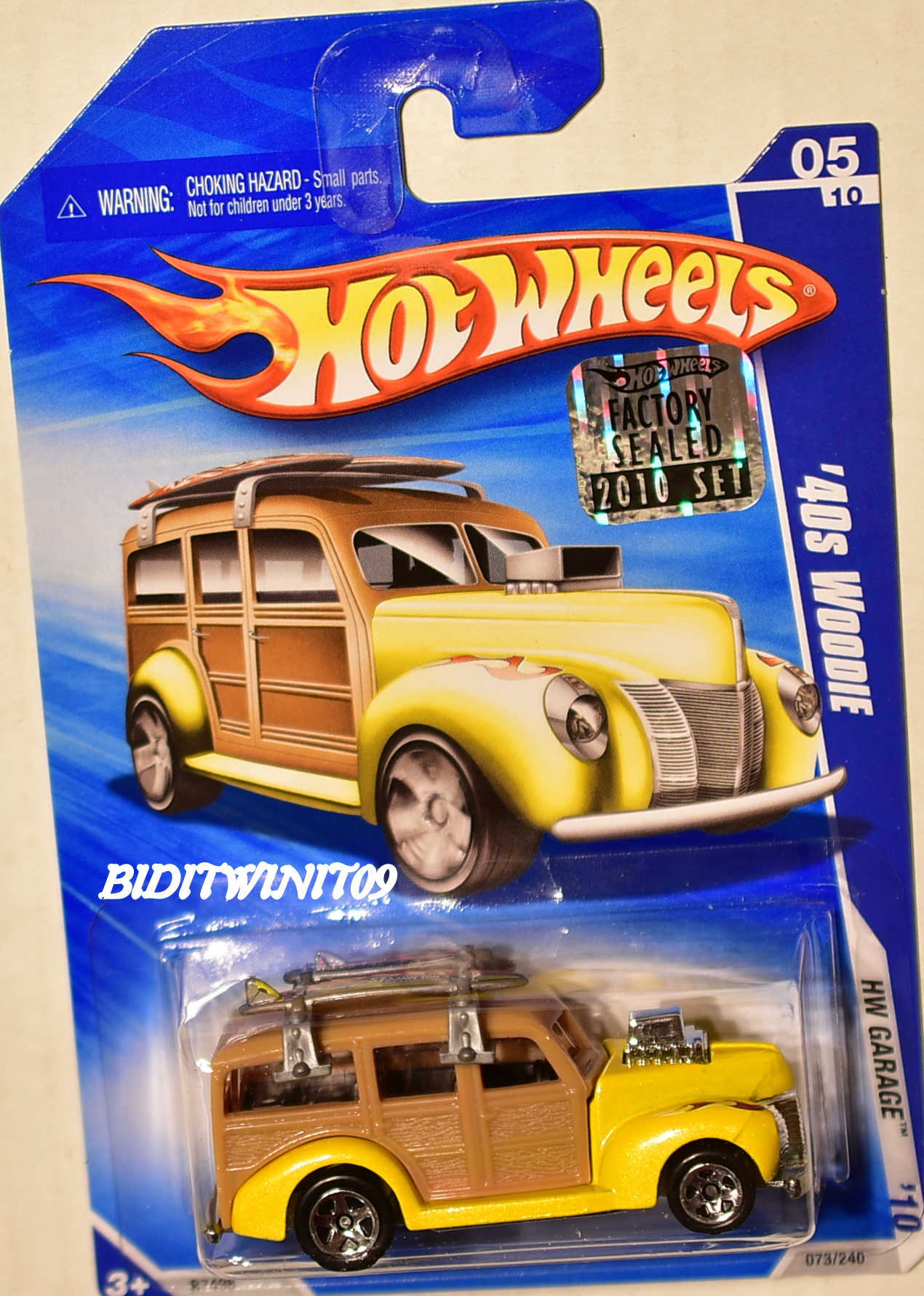 HOT WHEELS 2010 HW GARAGE '40S WOODIE #05/10 YELLOW FACTORY SEALED E+