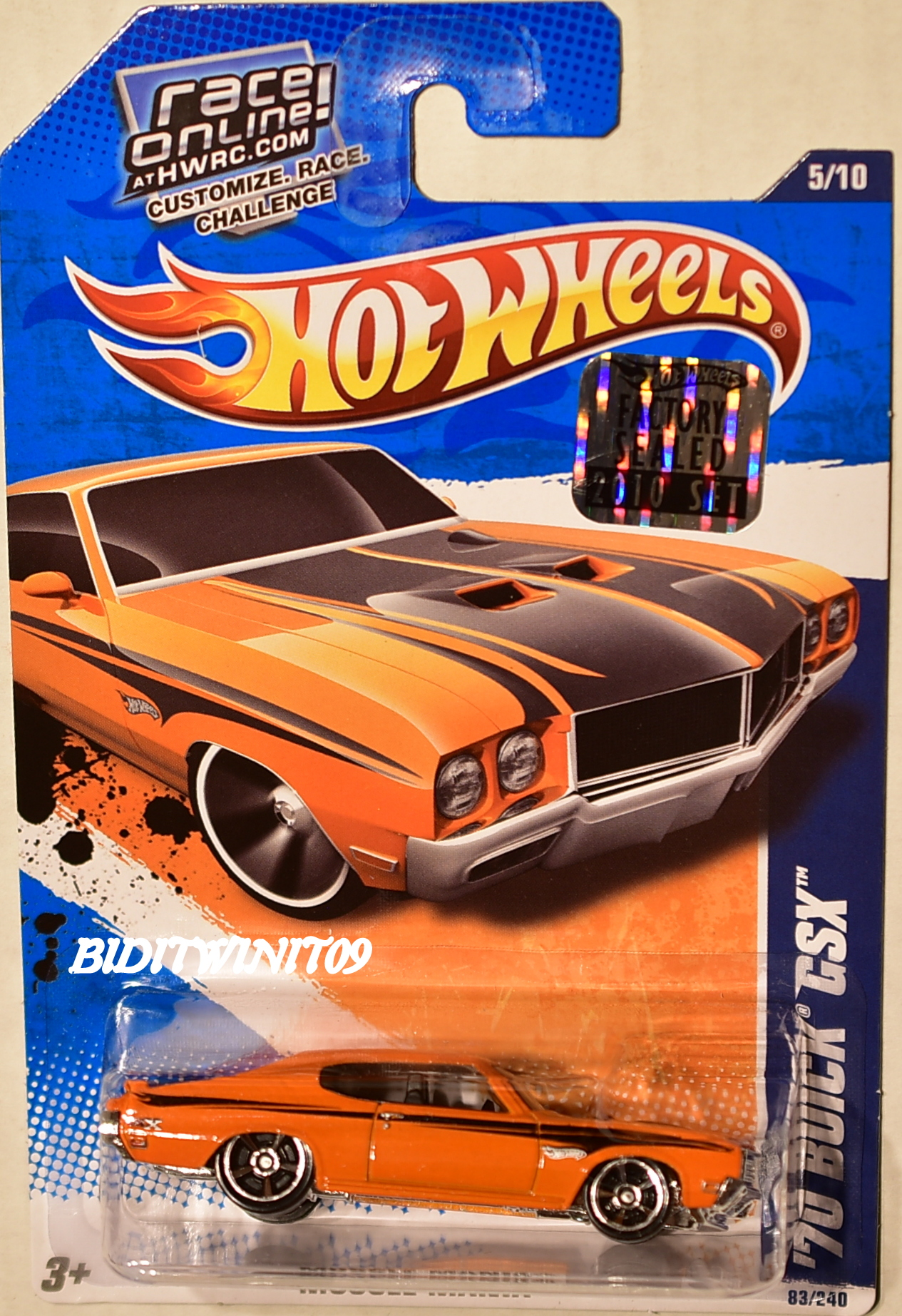 HOT WHEELS 2010 MUSCLE MANIA '70 BUICK GSX ORANGE FACTORY SEALED E+