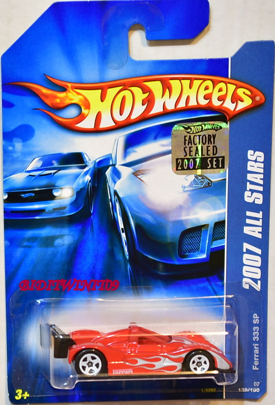 HOT WHEELS 2007 ALL STARS FERRARI 333 SP RED FACTORY SEALED