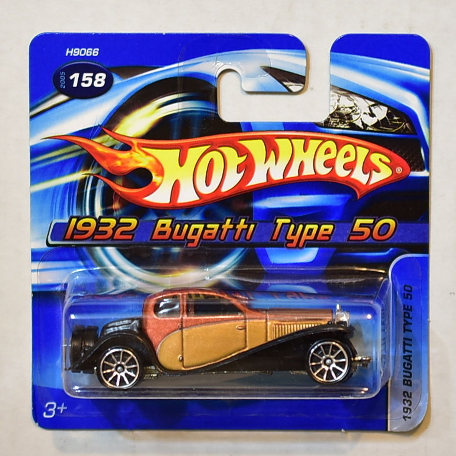 HOT WHEELS 2005 1932 BUGATTI TYPE 50 SHORT CARD