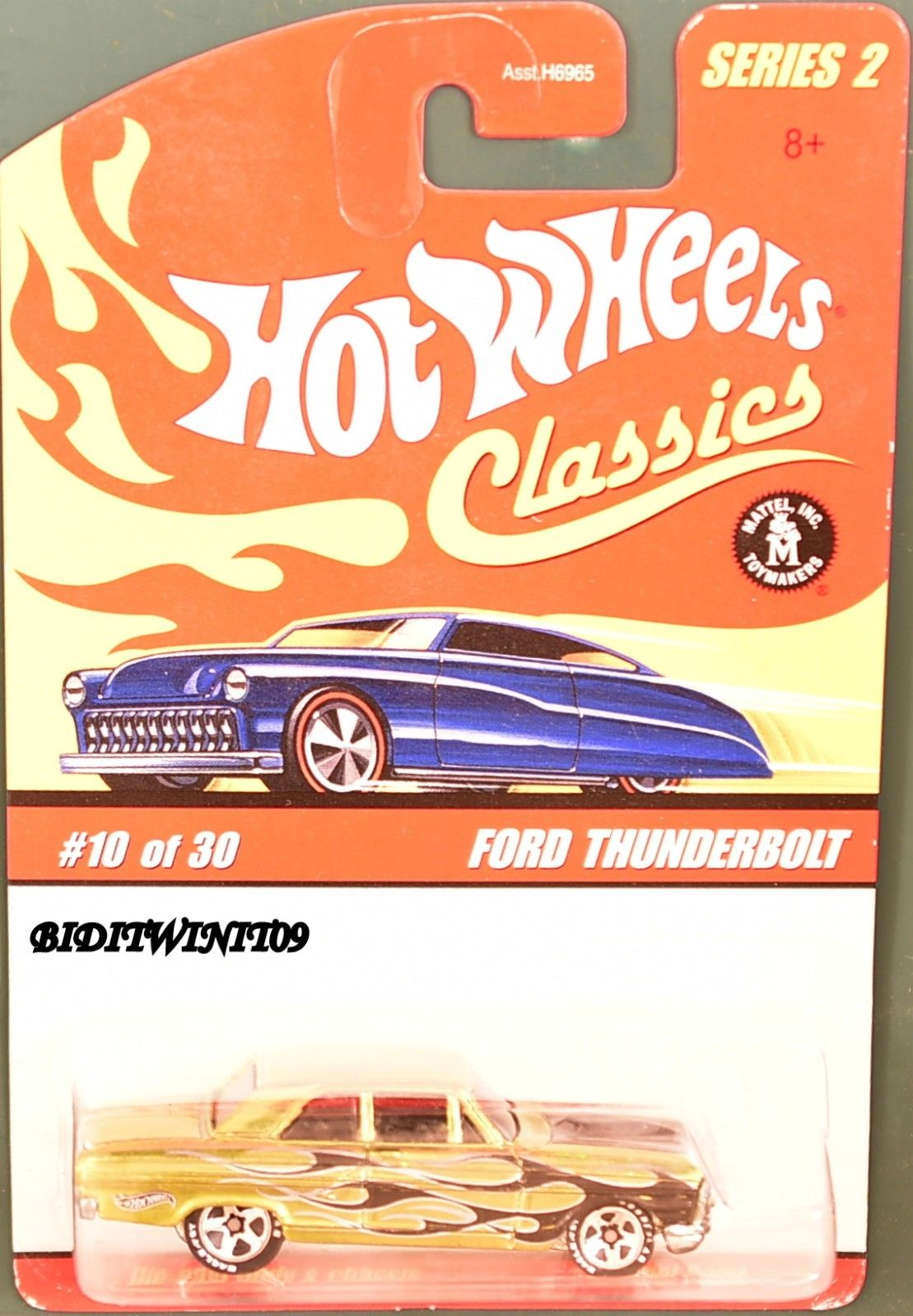 HOT WHEELS CLASSICS SERIES 2 #10/30 - FORD THUNDERBOLT YELLOW