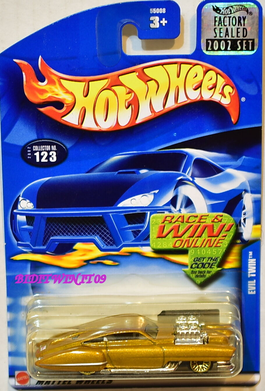 HOT WHEELS 2002 EVIL TWIN #123 GOLD FACTORY SEALED