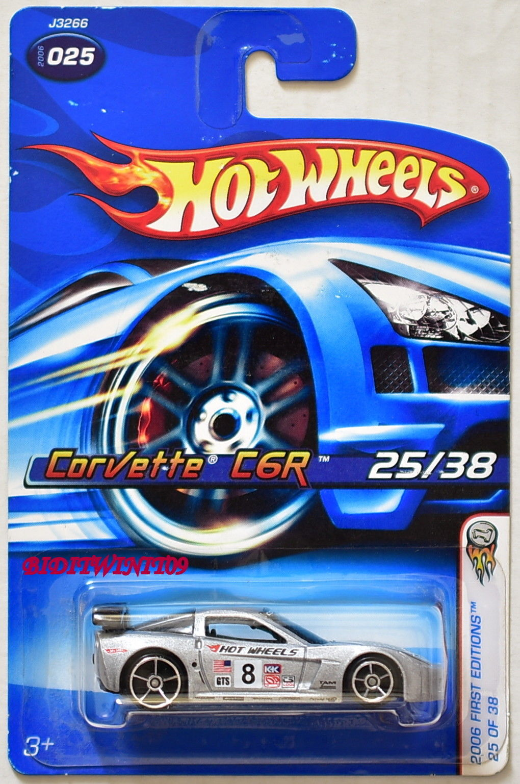 HOT WHEELS 2006 FIRST EDITIONS CORVETTE C6R #025 SILVER