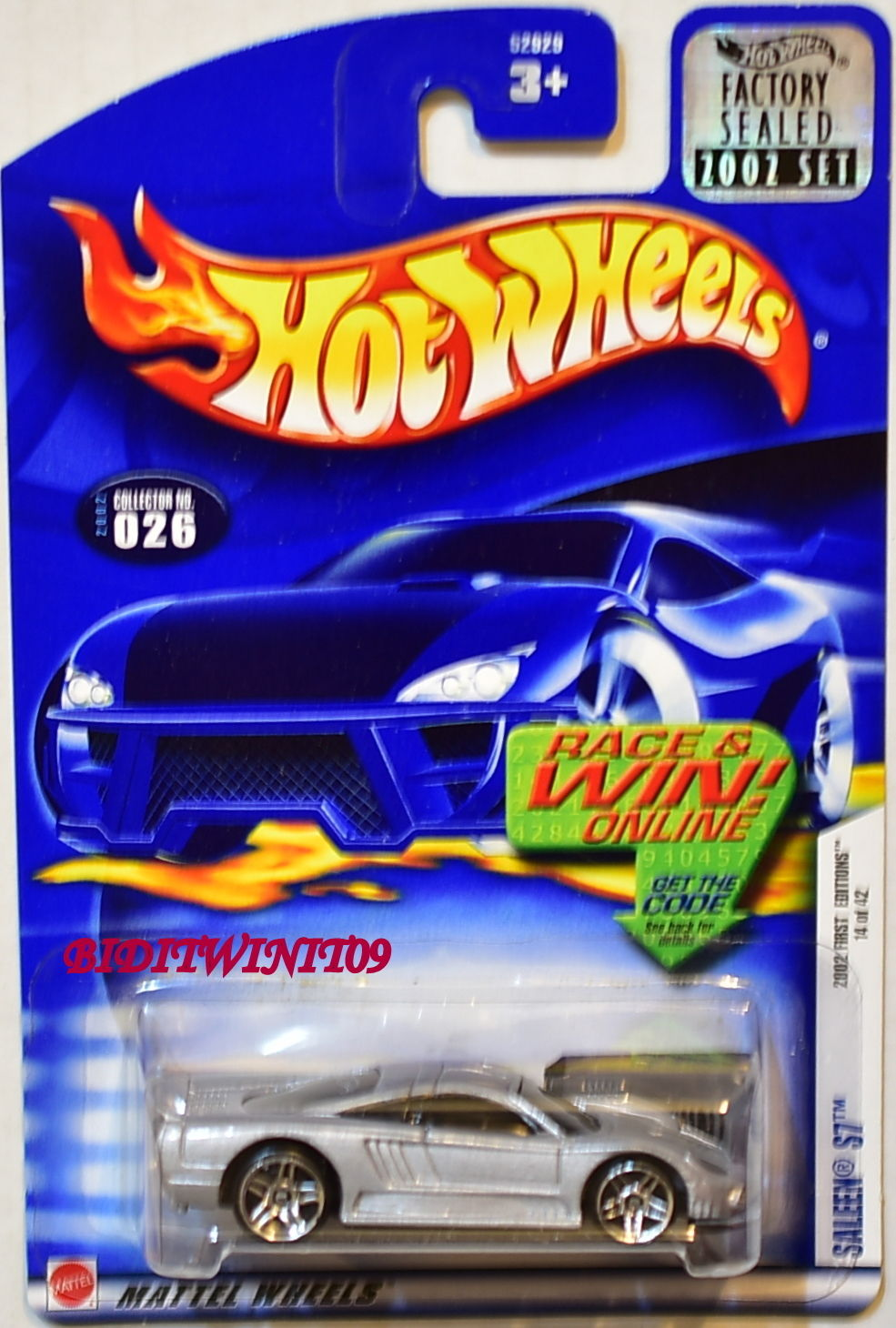 HOT WHEELS 2002 FIRST EDITIONS SALEEN S7 #026 SILVER FACTORY SEALED