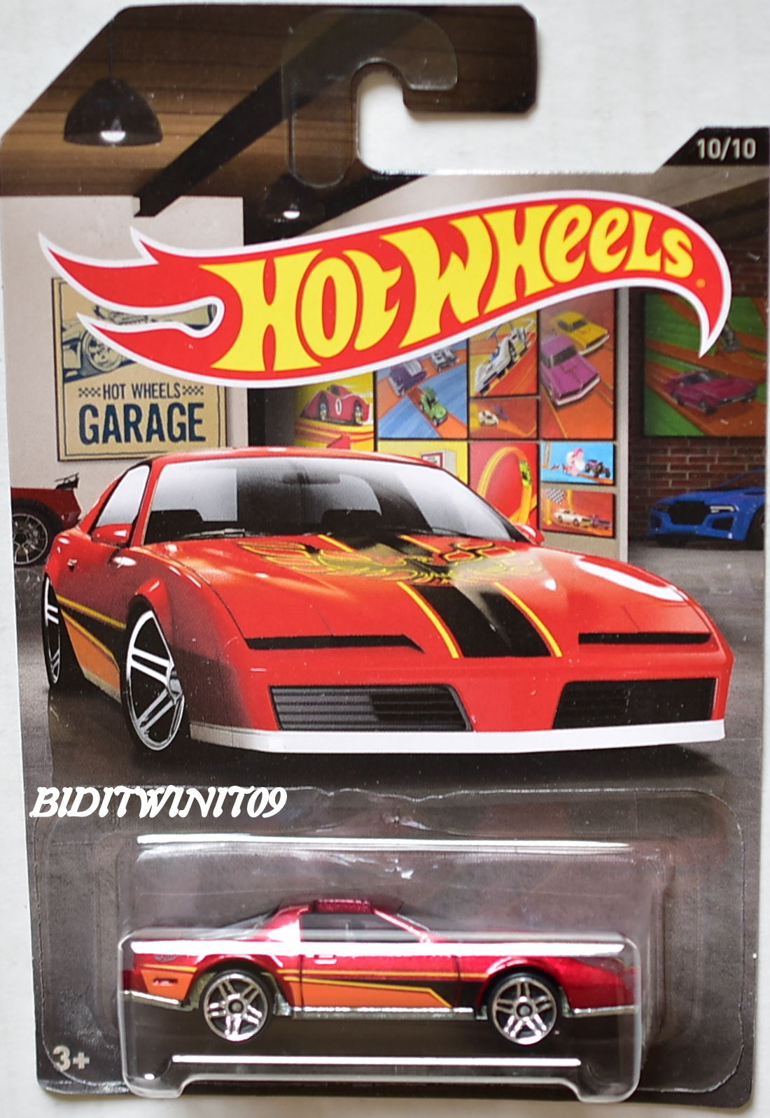 HOT WHEELS 2016 GARAGE 80'S PONTIAC FIREBIRD RED