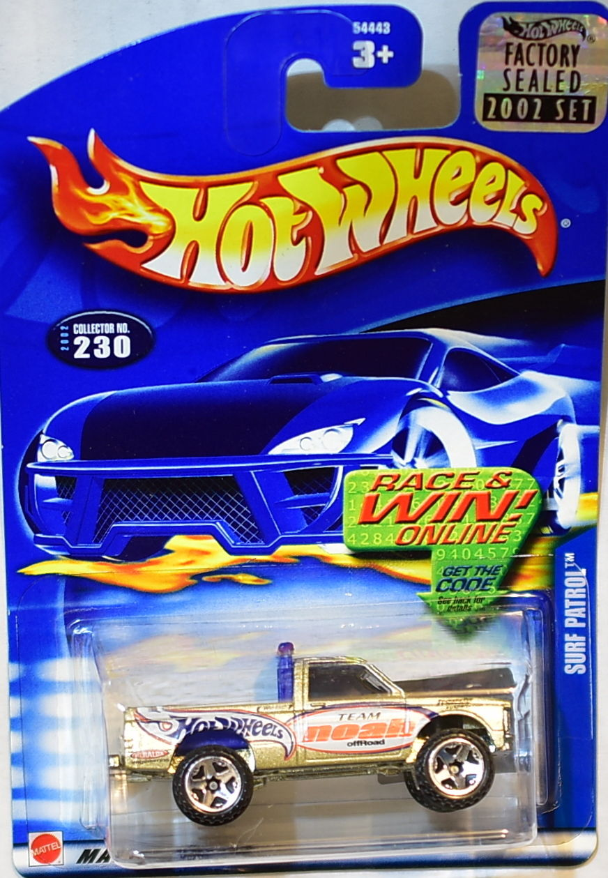 HOT WHEELS 2002 SURF PATROL #230 GOLD FACTORY SEALED