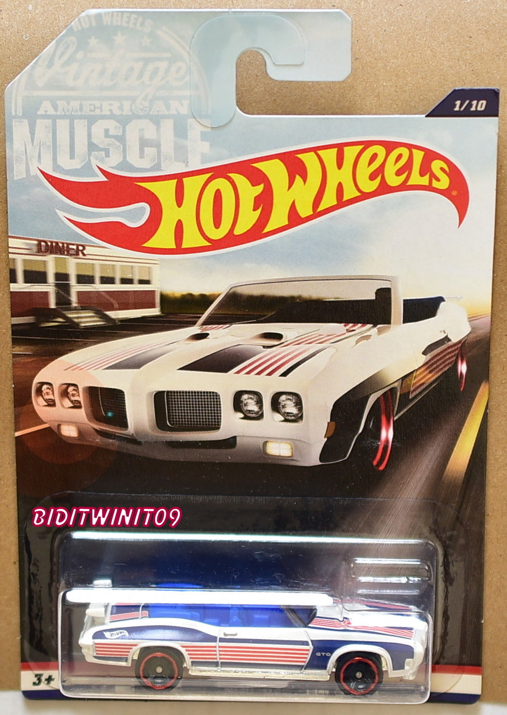 HOT WHEELS 2017 VINTAGE AMERICAN MUSCLE 1970 PONTIAC GTO