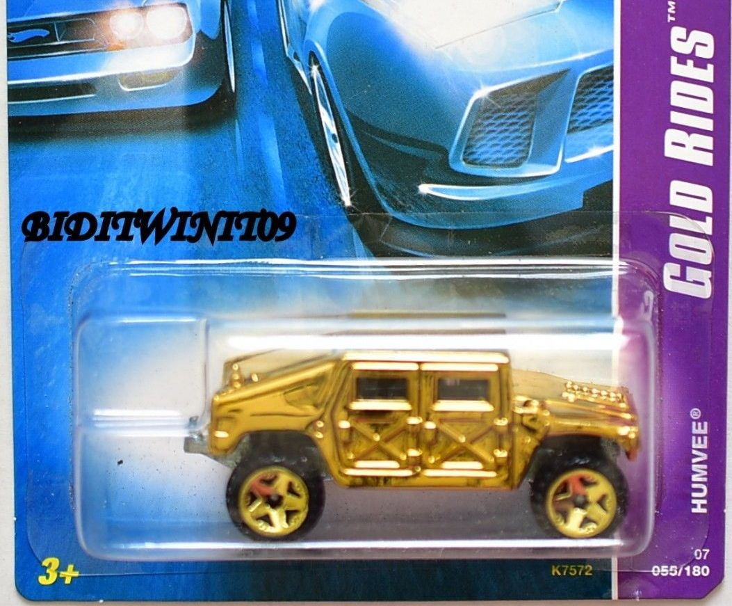 HOT WHEELS 2007 GOLD RIDES HUMVEE #03/04 E+
