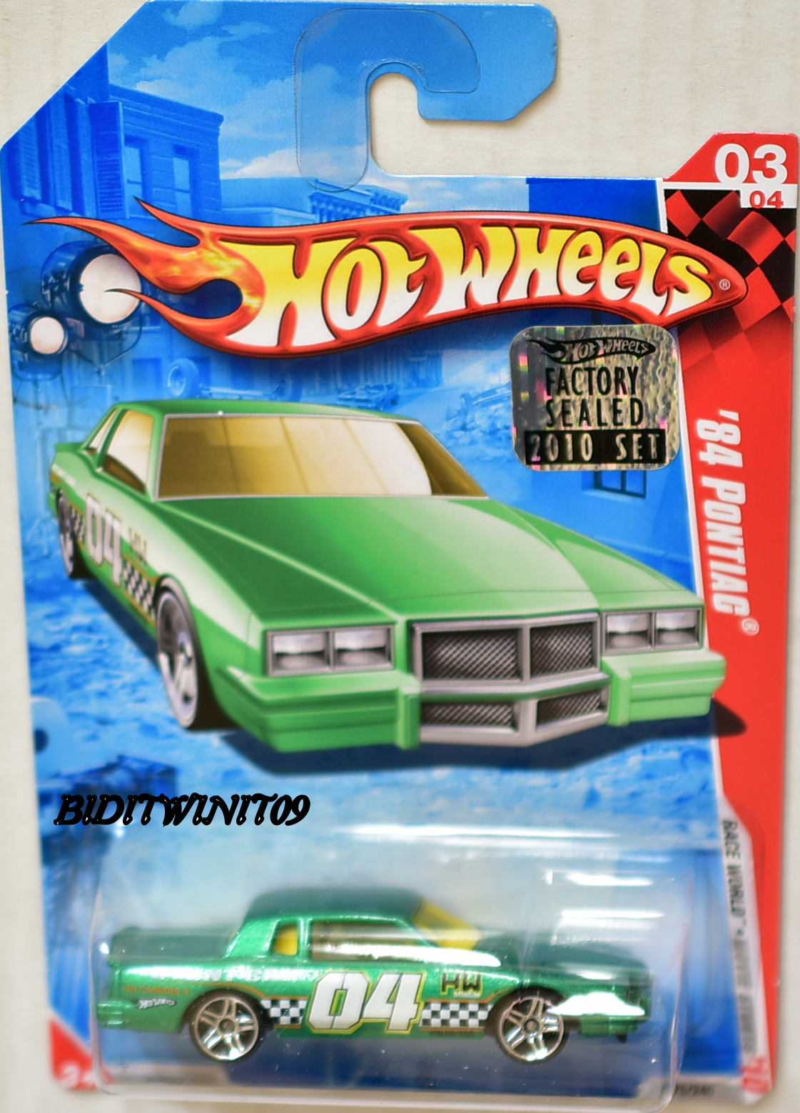 HOT WHEELS 2010 #03/04 '84 PONTIAC RACE WORLD GREEN FACTORY SEALED E+