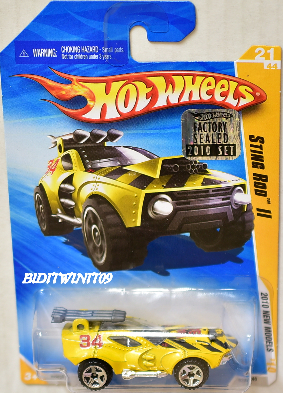 HOT WHEELS 2010 STING ROD II #21/44 NEW MODELS YELLOW FACTORY SEALED E+