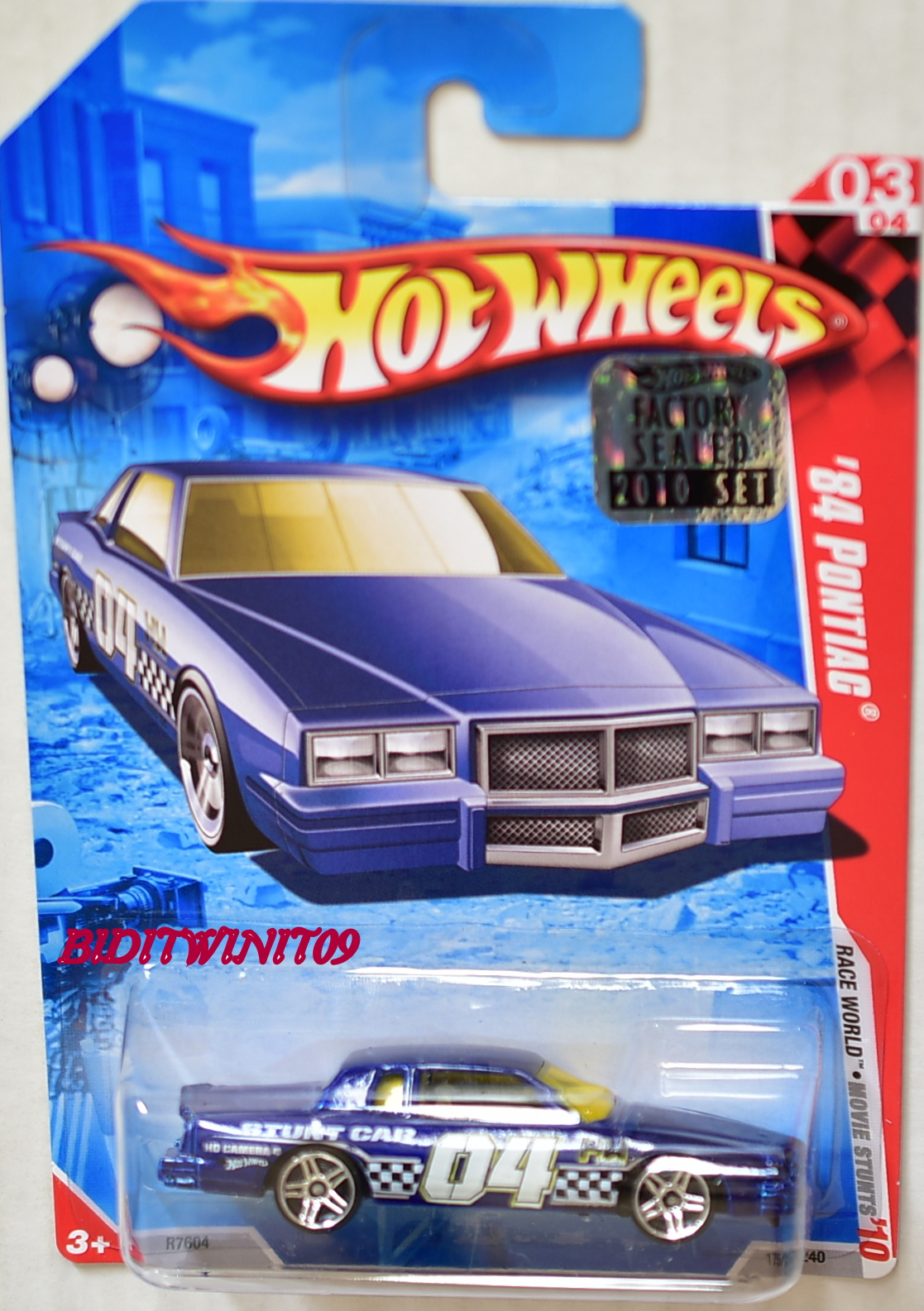 HOT WHEELS 2010 #03/04 '84 PONTIAC RACE WORLD BLUE FACTORY SEALED E+