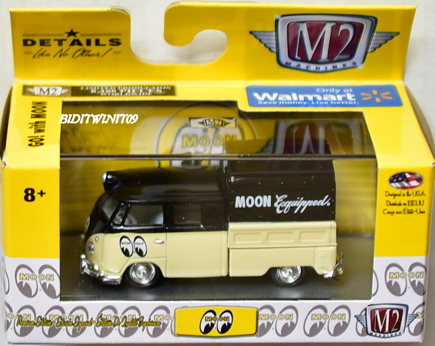 M2 MACHINES MOONEYES 1:64 1959 VW DOUBLE CAB TRUCK WMTS09 WALMART EXC