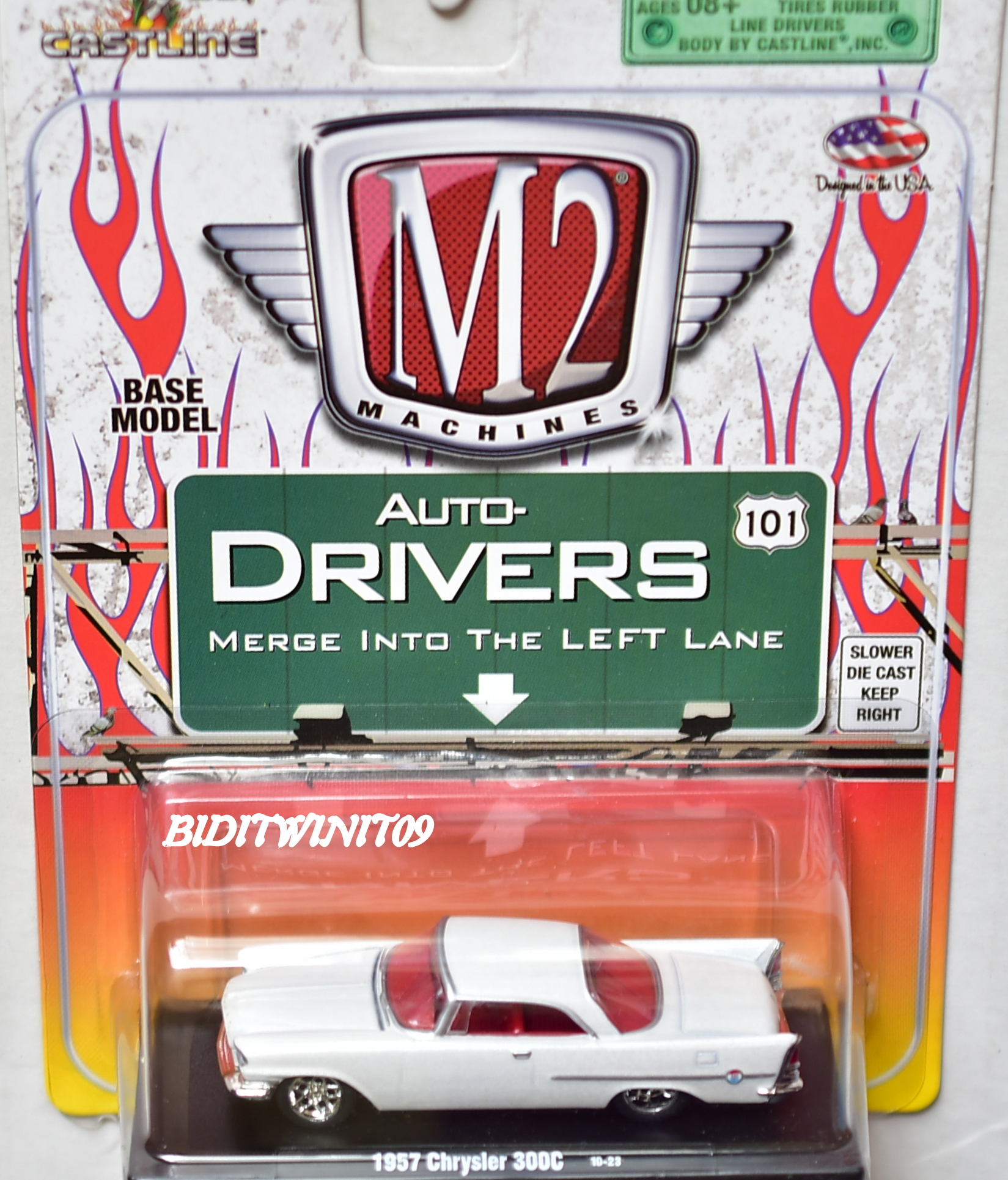 M2 MACHINES AUTO-DRIVERS 1957 CHRYSLER 300C 10-23 WHITE E+