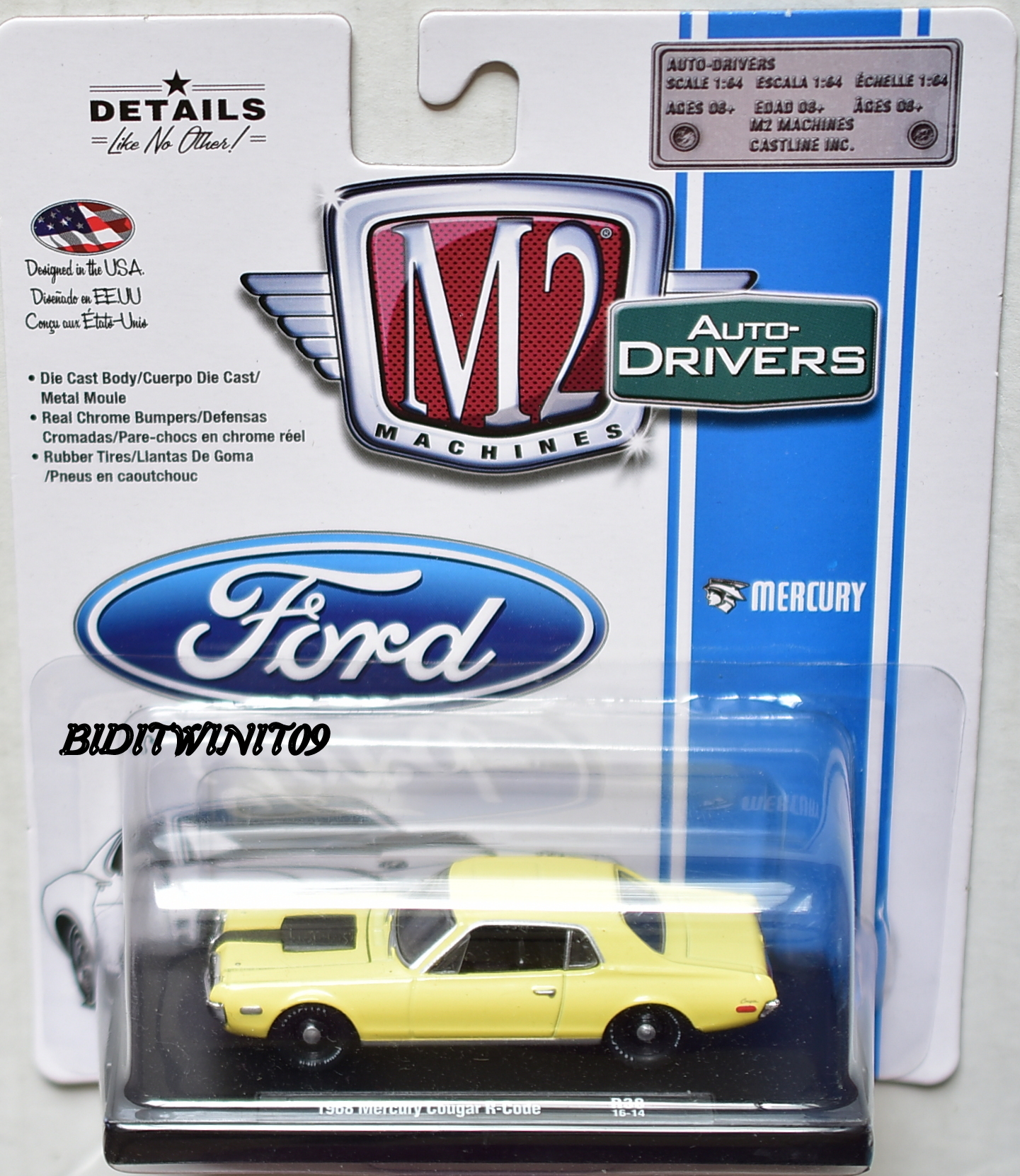 M2 MACHINES AUTO-DRIVERS 1968 MERCURY COUGAR R-CODE R38 E+