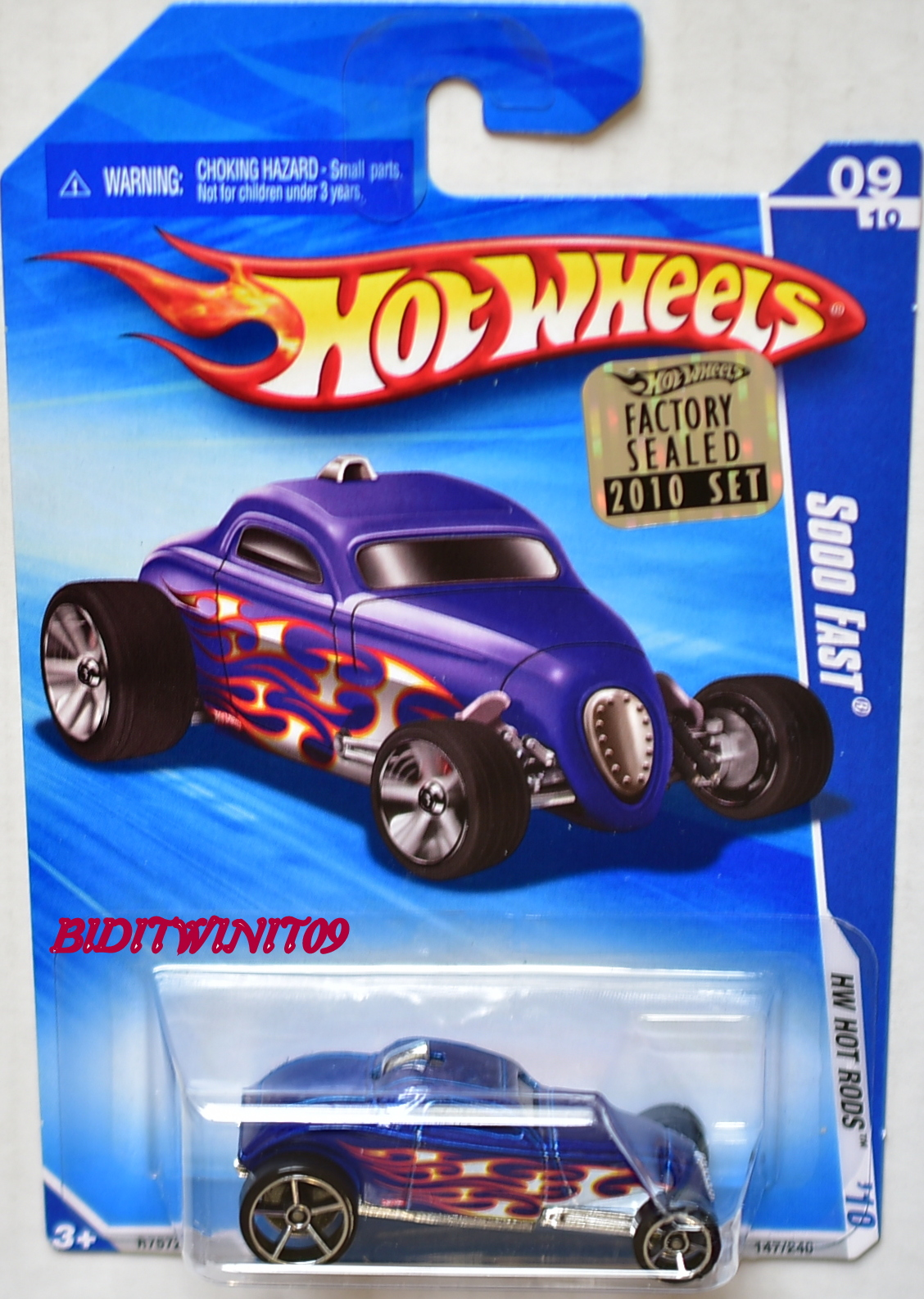 HOT WHEELS 2010 HW HOT RODS SOOO FAST BLUE FACTORY SEALED