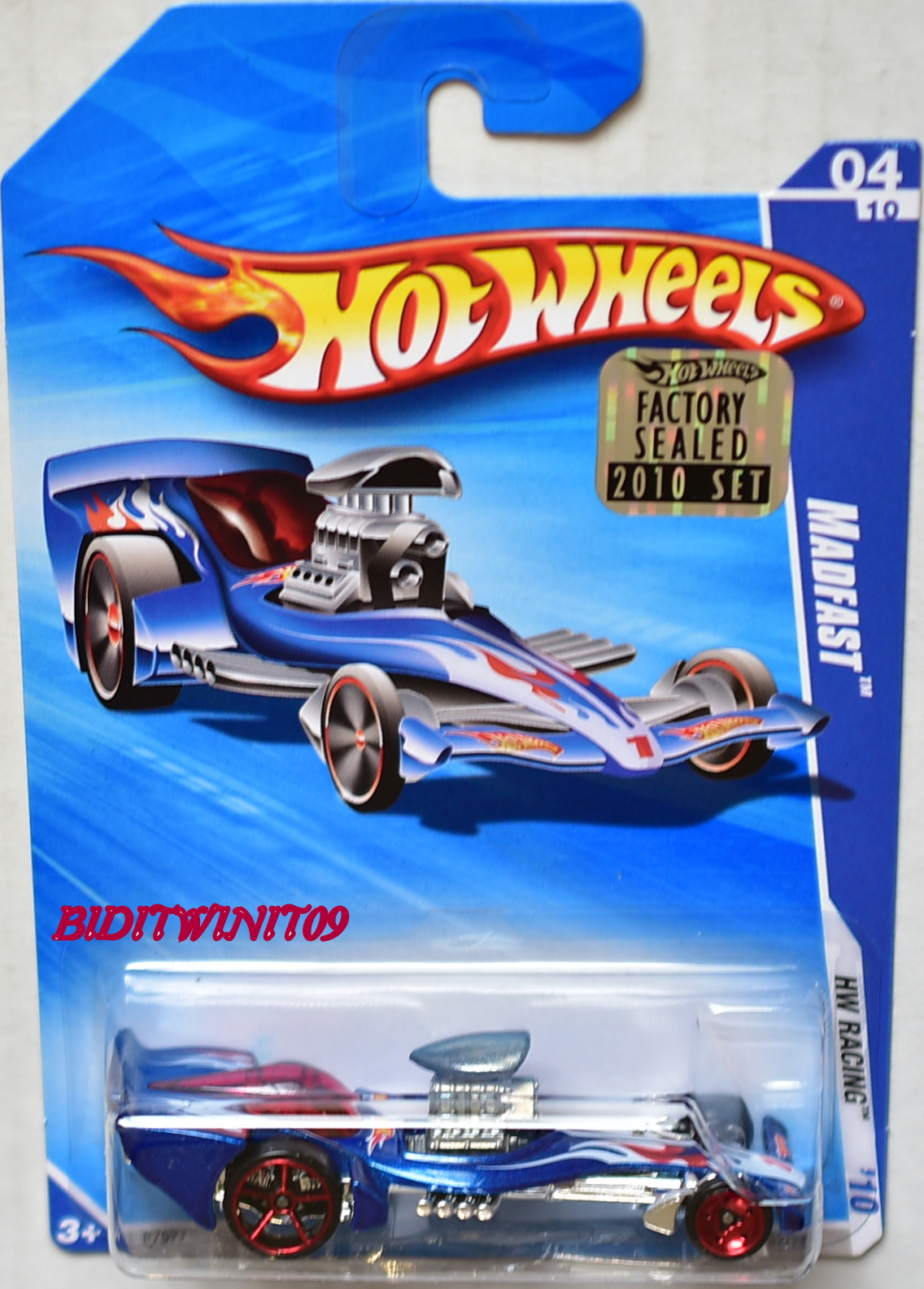 HOT WHEELS 2010 HW RACING MADFAST BLUE FACTORY SEALED