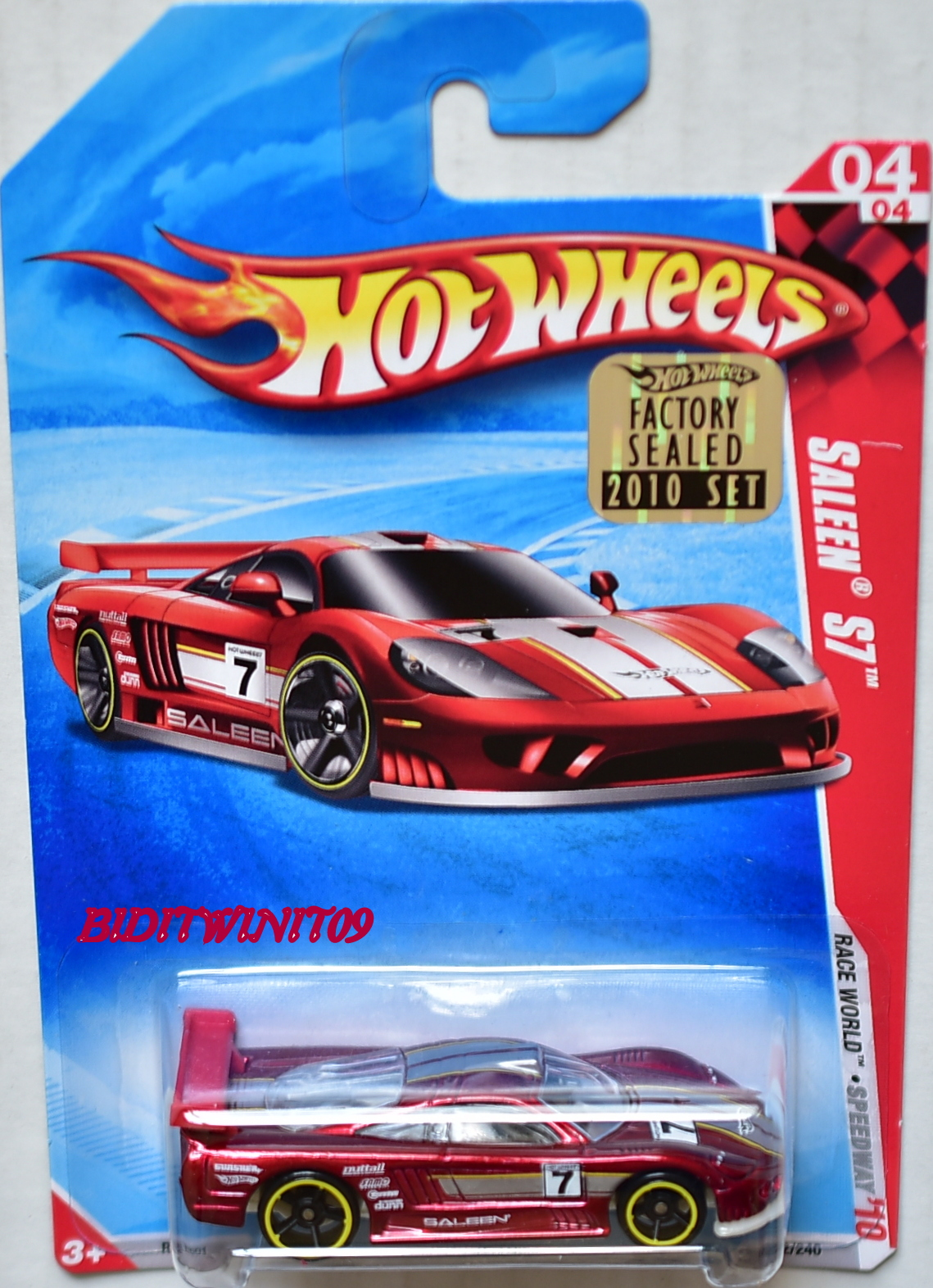 HOT WHEELS 2010 RACE WORLD SALEEN S7 #04/04 RED FACTORY SEALED E+