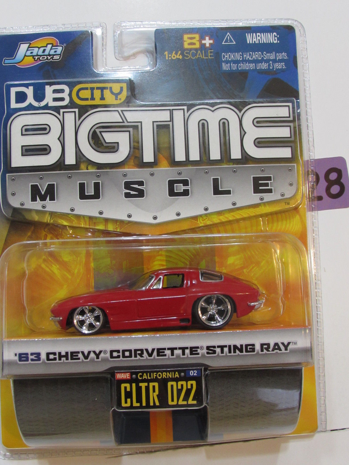 JADA DUB CITY BIGTIME MUSCLE '63 CHEVY CORVETTE STINGRAY CLTR 022 RED