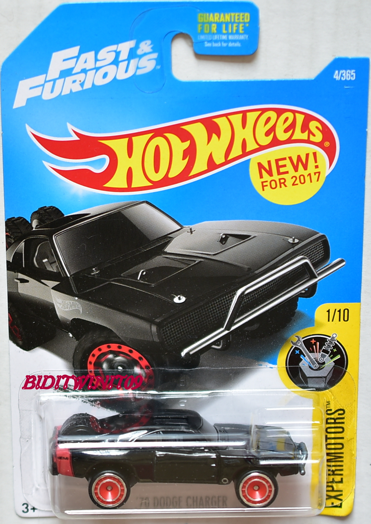 HOT WHEELS 2017 EXPERIMOTORS '70 DODGE CHARGER CUSTOM MADE E+