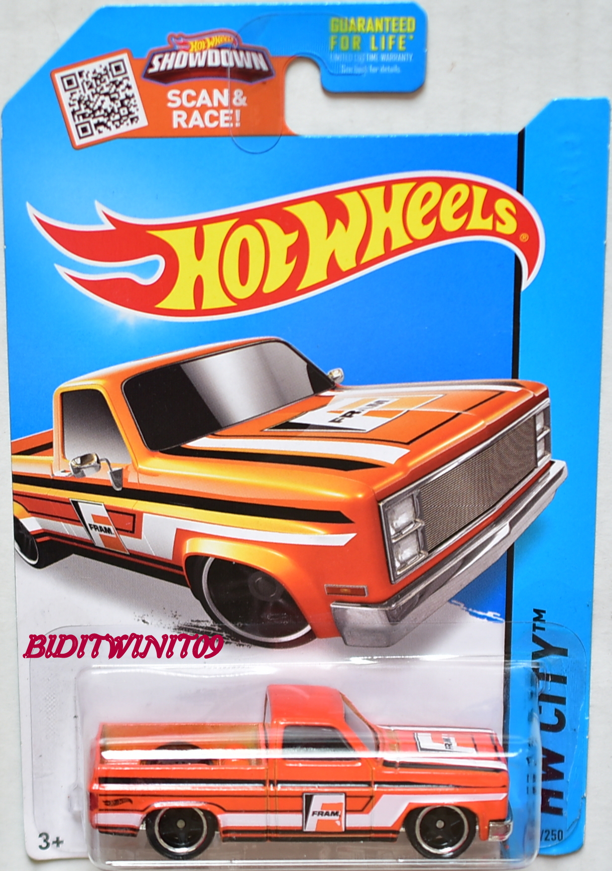 HOT WHEELS 2015 HW CITY '83 CHEVY SILVERADO CUSTOM MADE E+