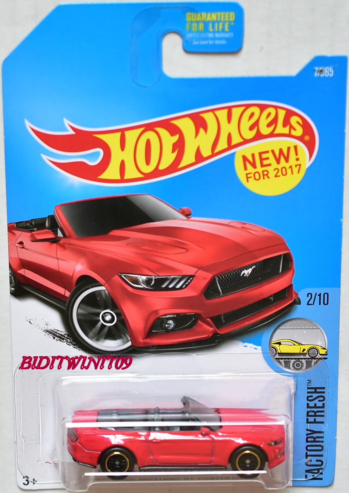HOT WHEELS 2015 FACTORY FRESH FORD MUSTANG GT CONVERTIBLE RED CUSTOM MADE E+