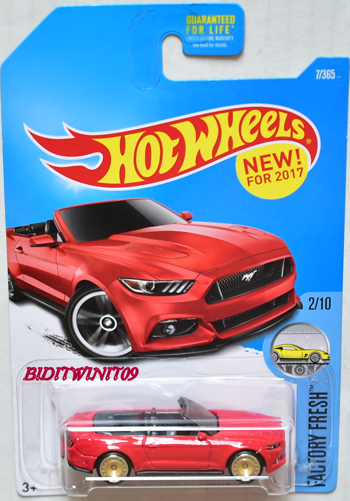HOT WHEELS 2015 FACTORY FRESH FORD MUSTANG GT CONVERTIBLE CUSTOM MADE E+