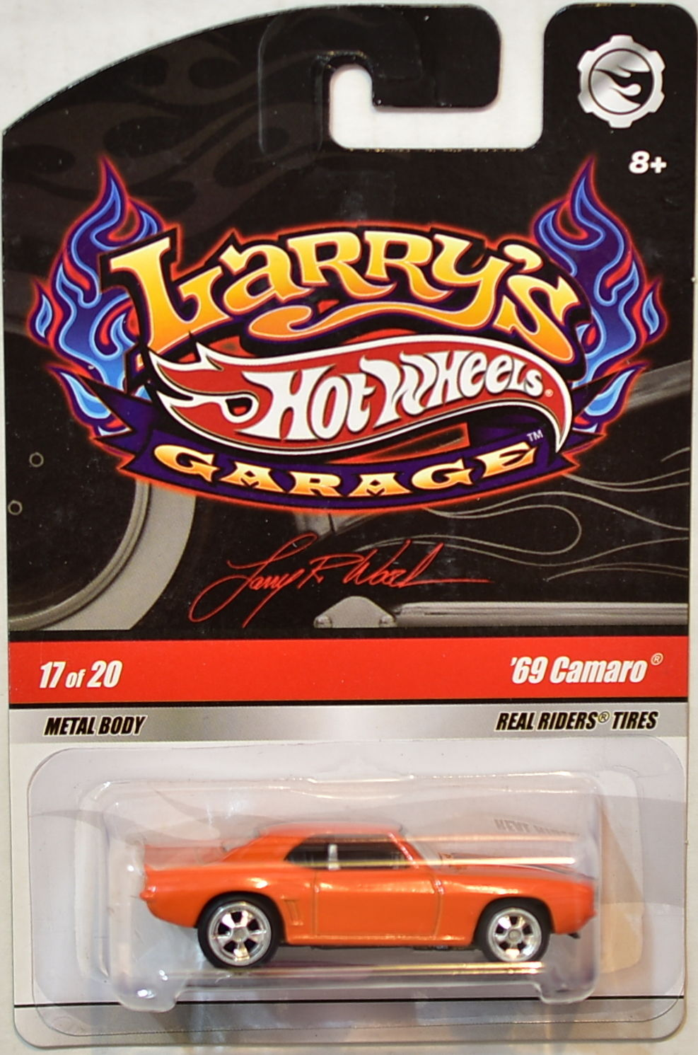 HOT WHEELS LARRY'S GARAGE #17/20 '69 CAMARO ORANGE