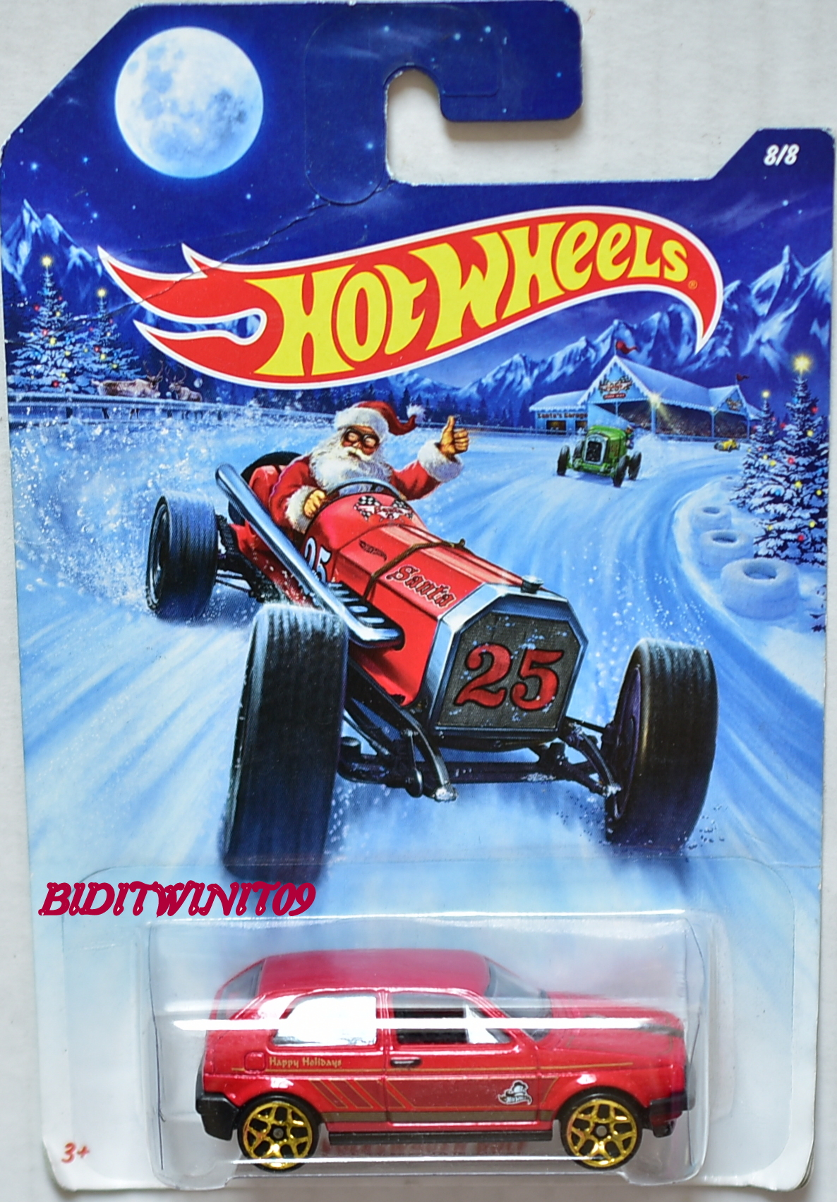HOT WHEELS 2014 HOLIDAY HOT RODS VOLKSWAGEN GOLF #8/8 RED
