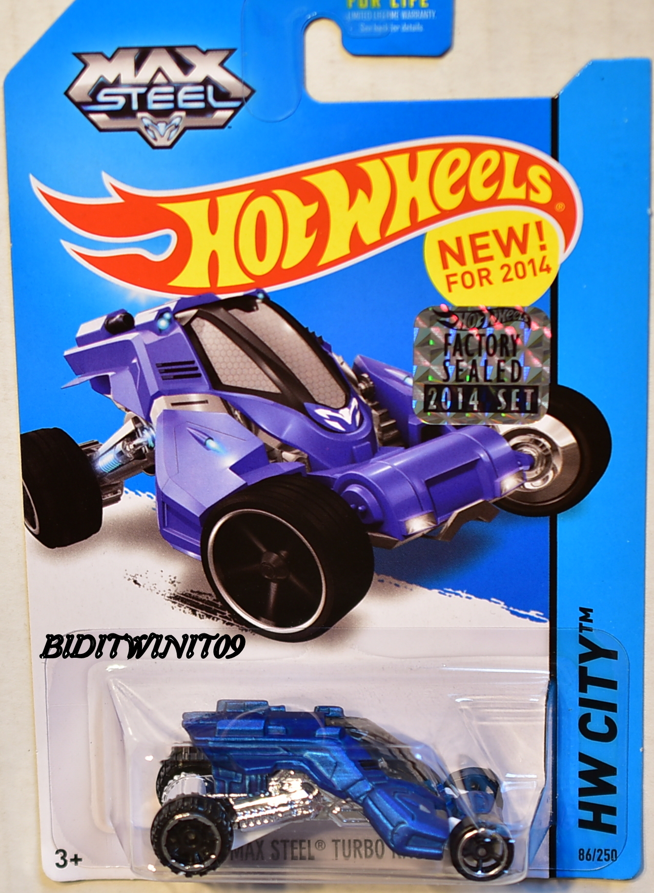 HOT WHEELS 2014 HW CITY MAX STEEL TURBO RACER FACTORY SEALED