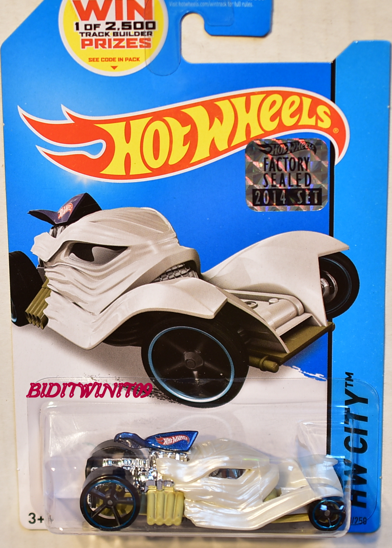 HOT WHEELS 2014 HW CITY TOMB UP FACTORY SEALED WHITE