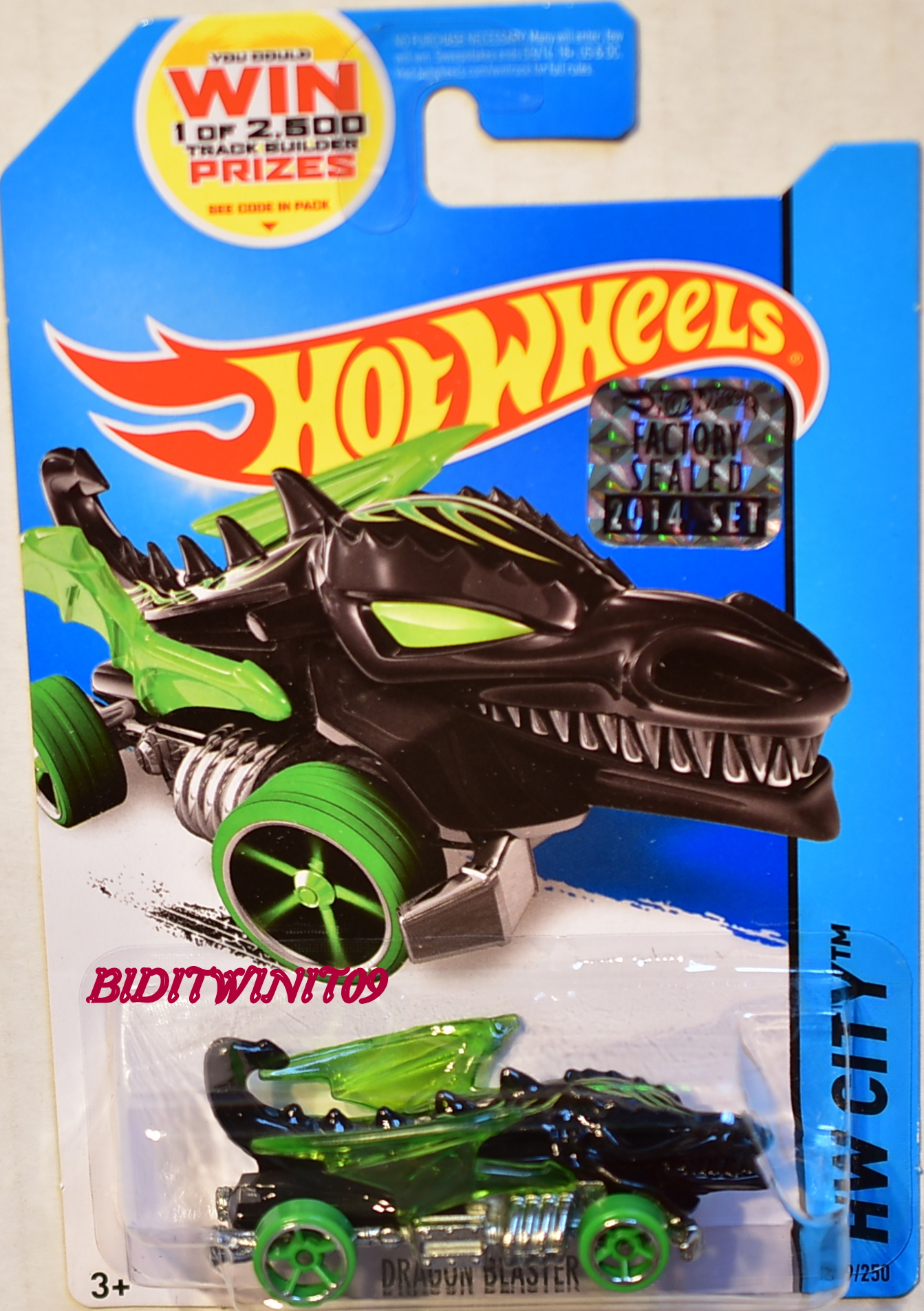 HOT WHEELS 2014 HW CITY DRAGON BLASTER BLACK FACTORY SEALED