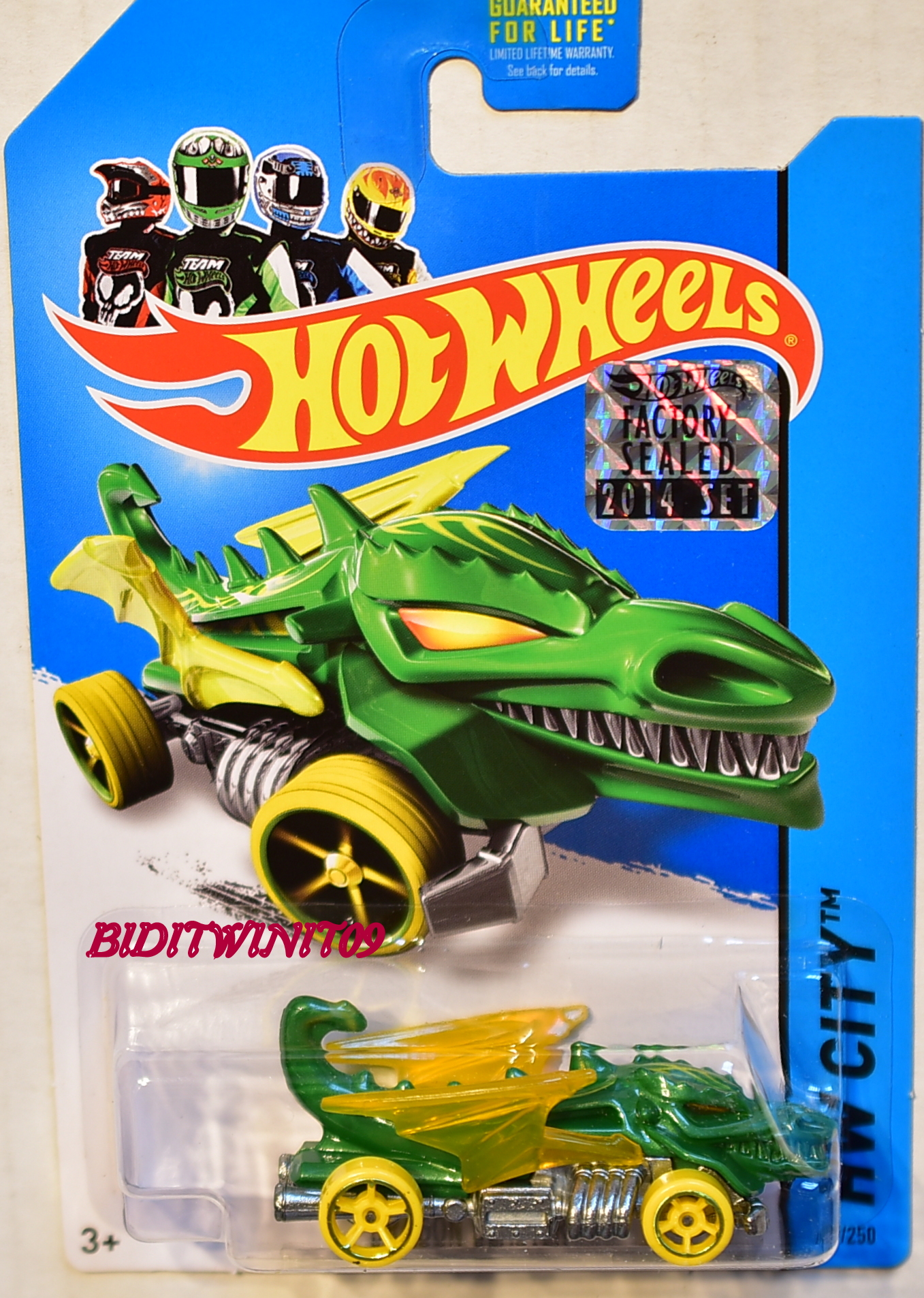 HOT WHEELS 2014 HW CITY DRAGON BLASTER GREEN FACTORY SEALED