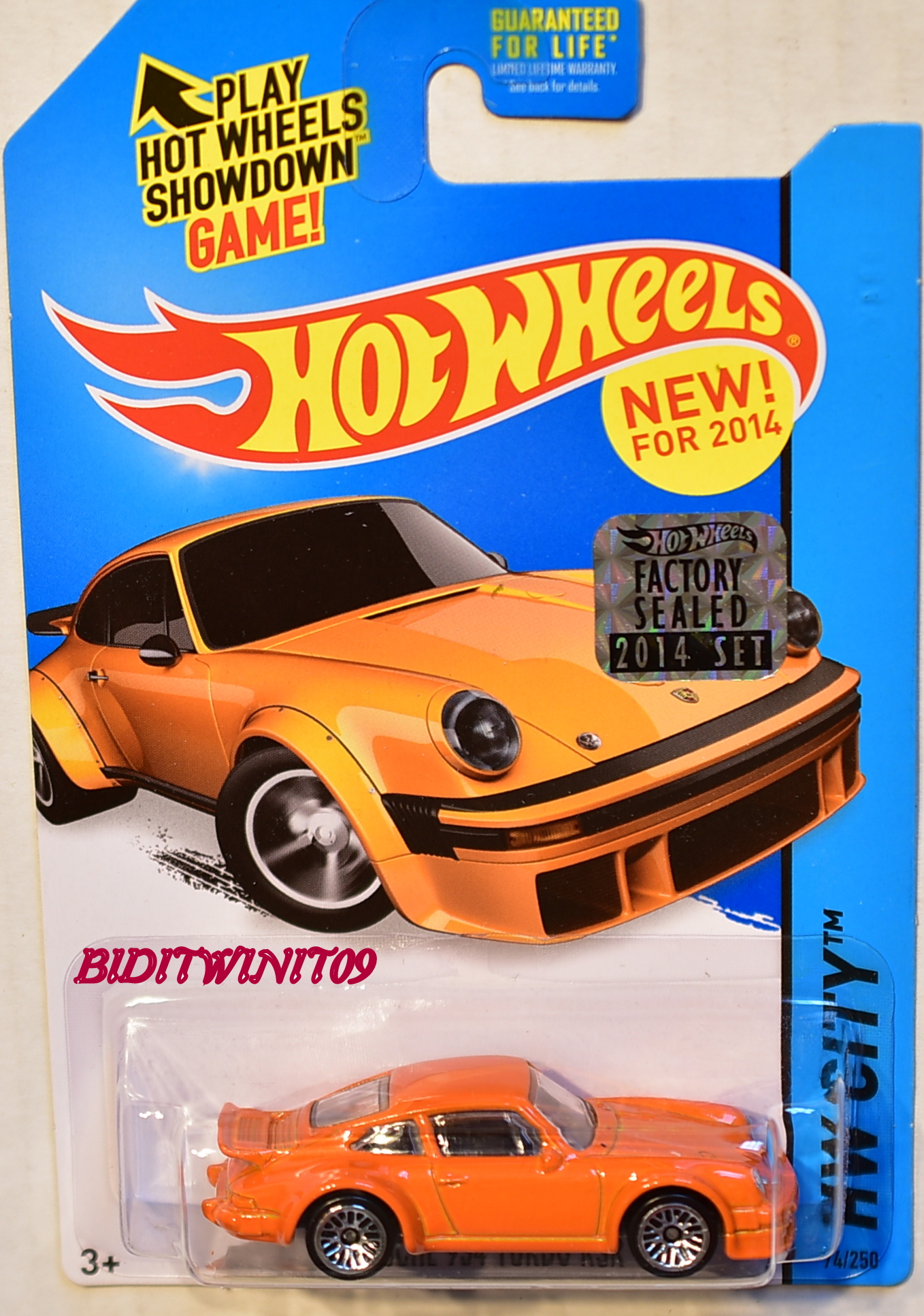 HOT WHEELS 2014 HW CITY PORSCHE 934 TURBO RSR FACTORY SEALED