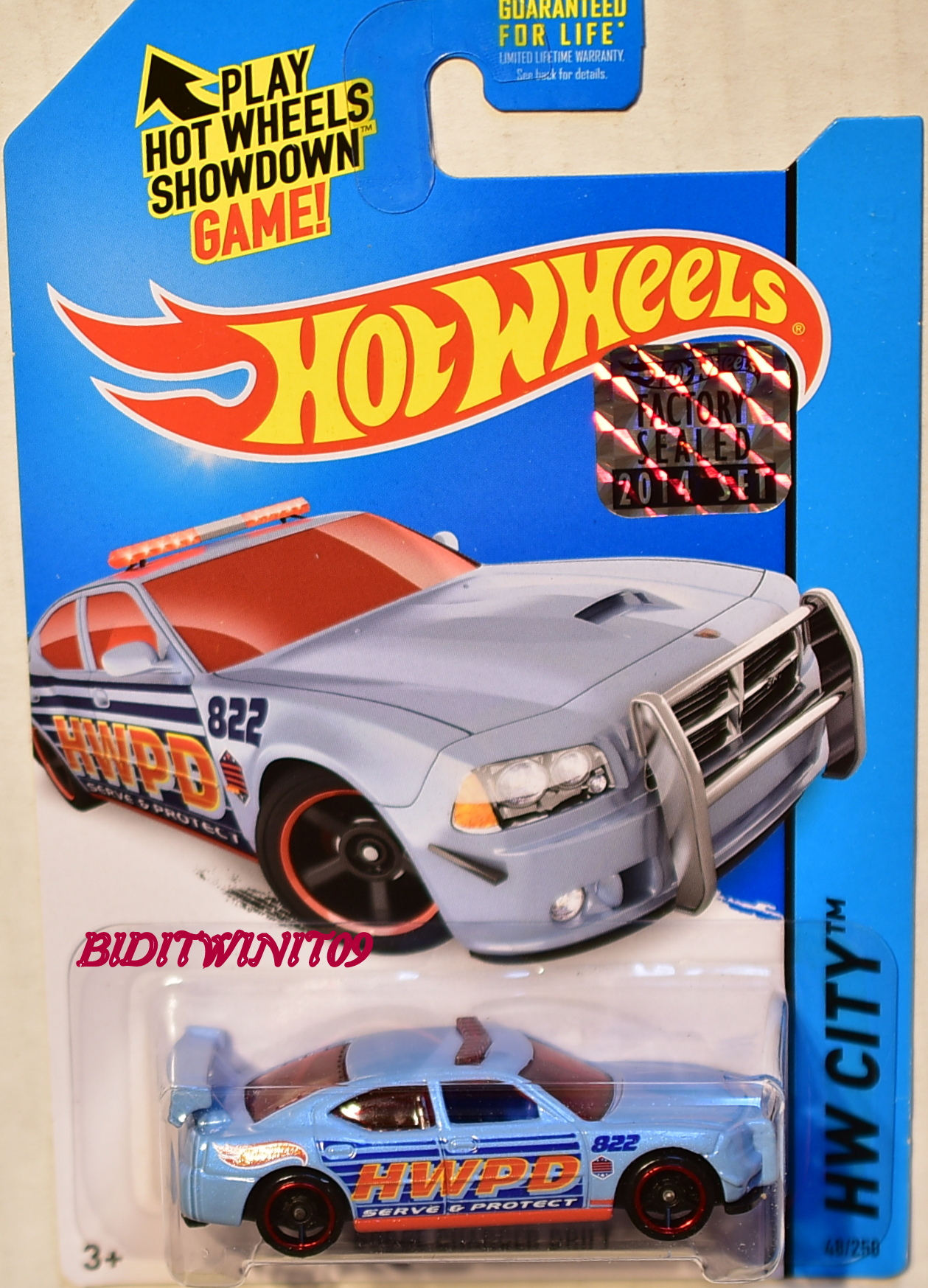 HOT WHEELS 2014 HW CITY DODGE CHARGER DRIFT FACTORY SEALED
