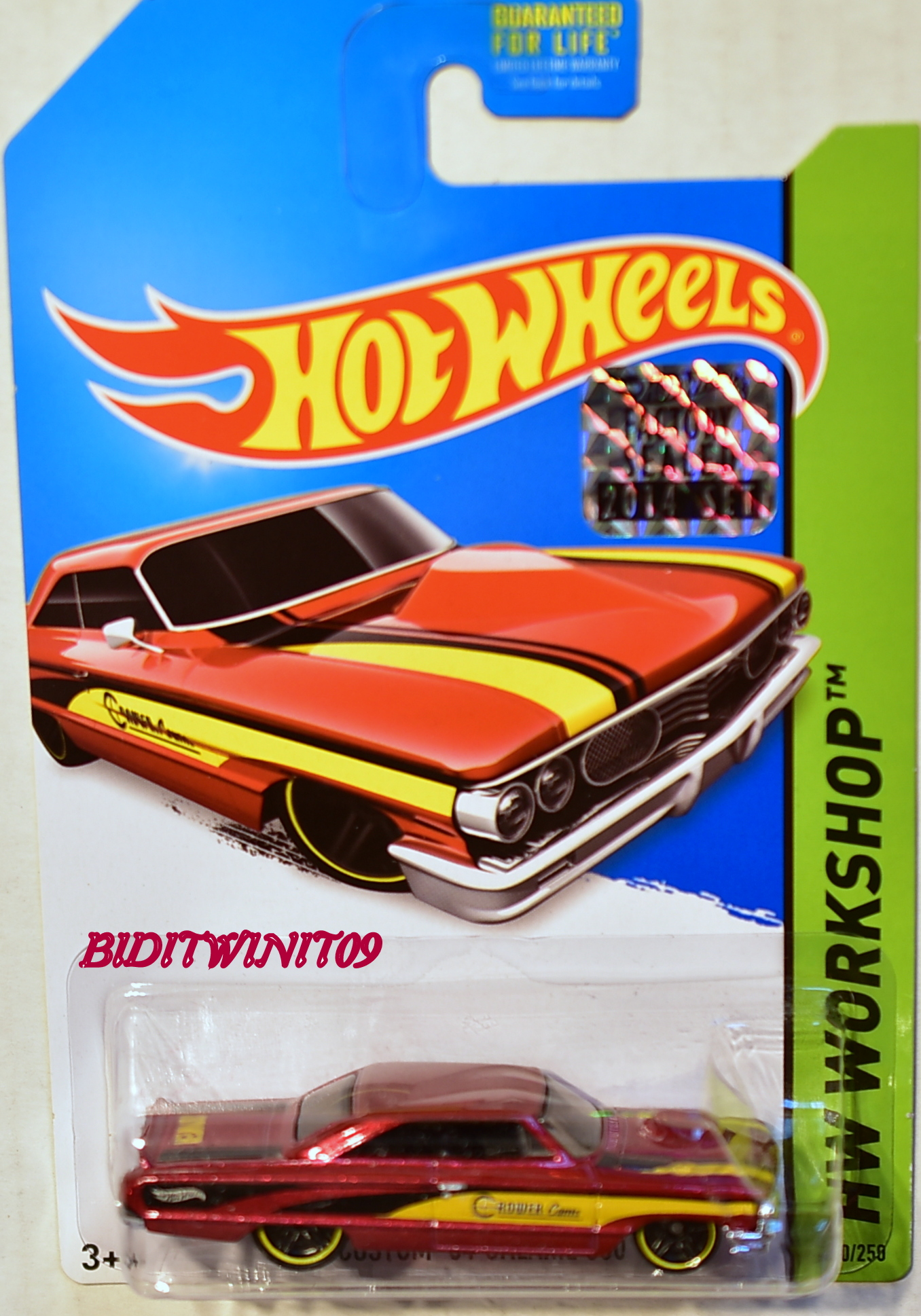 HOT WHEELS 2014 HW WORKSHOP CUSTOM '64 GALAXIE 500 RED FACTORY SEALED
