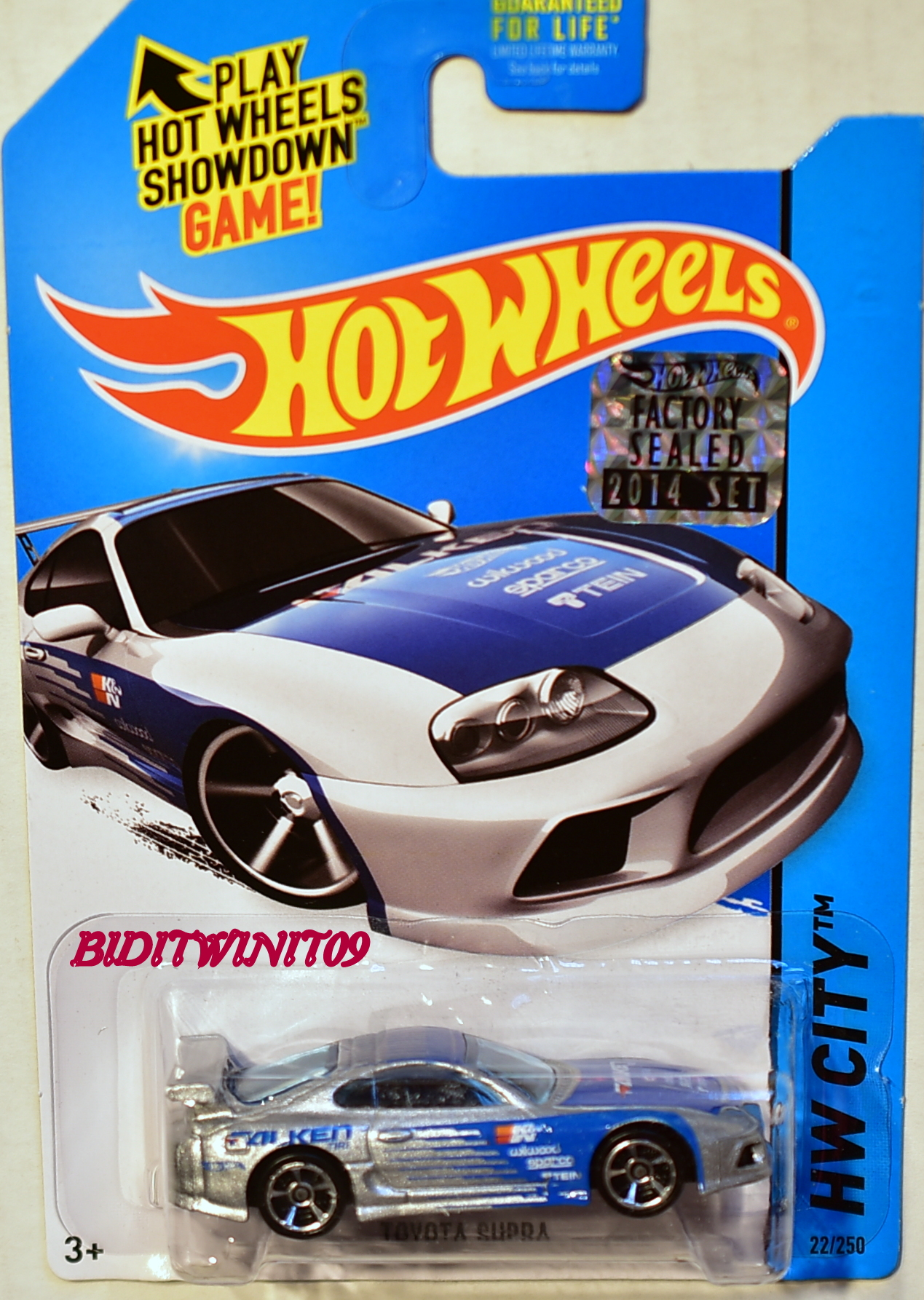 HOT WHEELS 2014 HW CITY TOYOTA SUPRA SILVER FACTORY SEALED